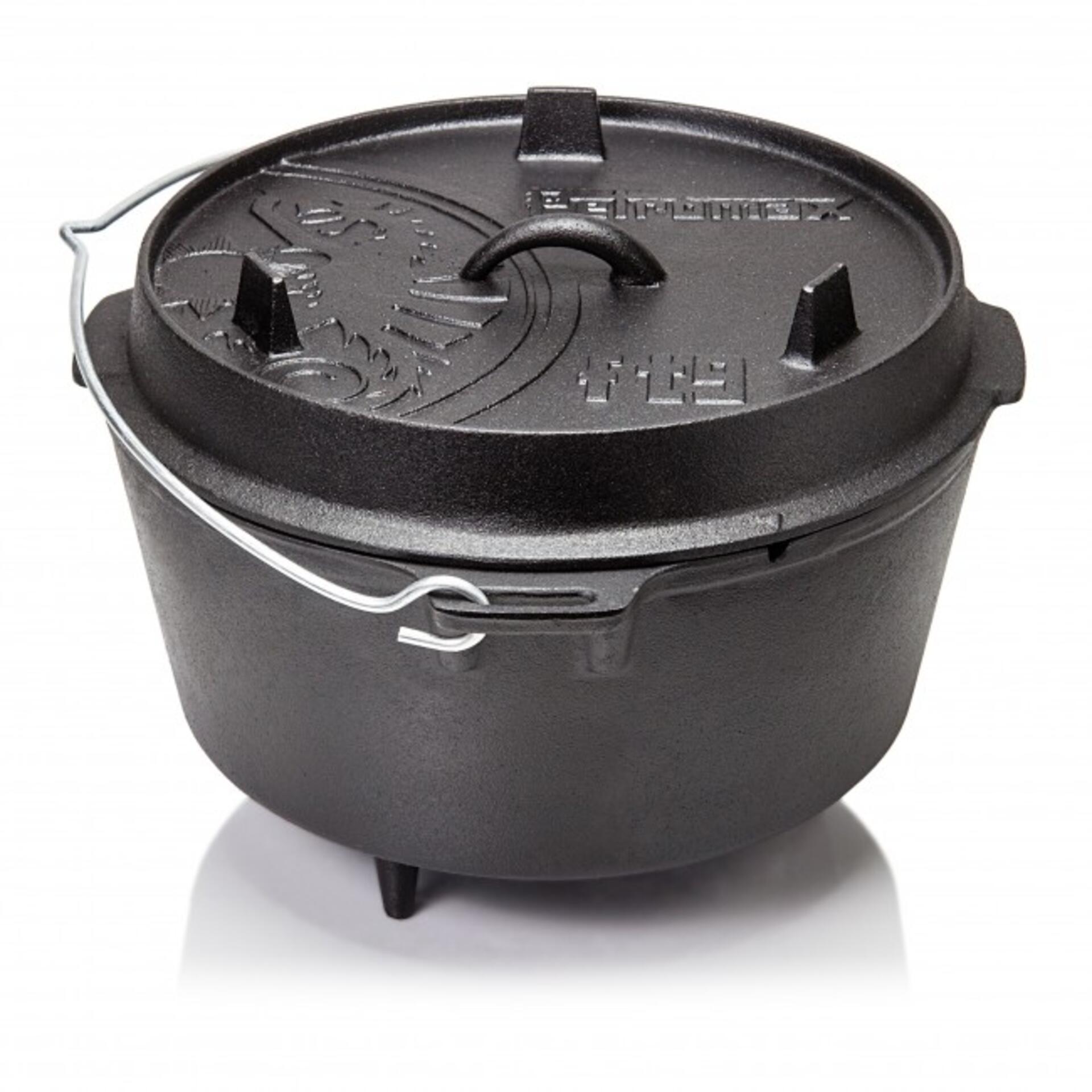 Petromax Gusseisen Feuertopf ft9 (Dutch Oven) mit Füßen 7,5 Liter