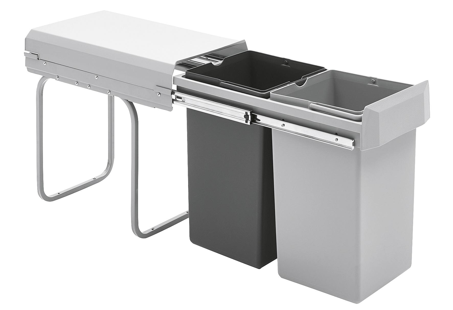 WESCO Einbau-Abfalleimer Double-Boy 2x15ltr. silberfarben