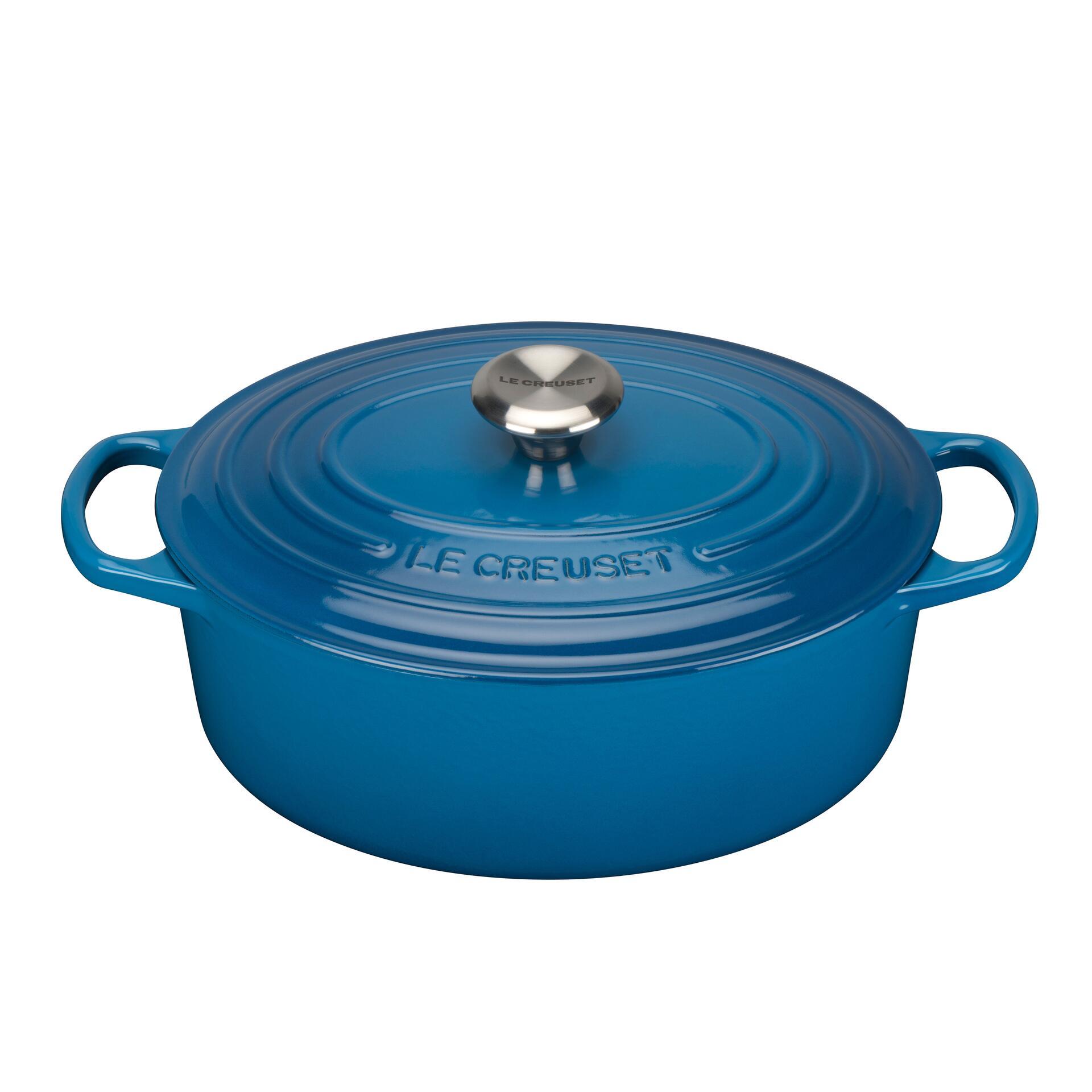 Le Creuset Bräter Signature 31 cm oval Marseille Blau 6,3 L