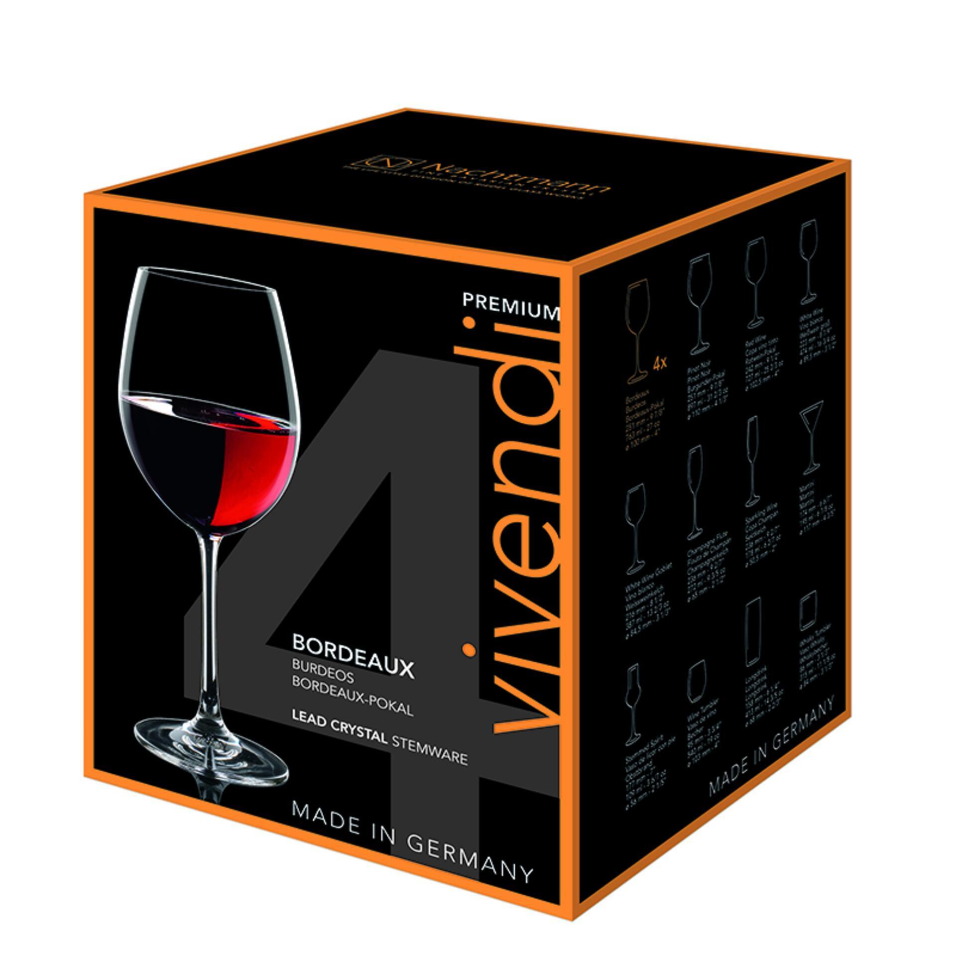 Nachtmann Vivendi Bordeaux Pokal 4er Set