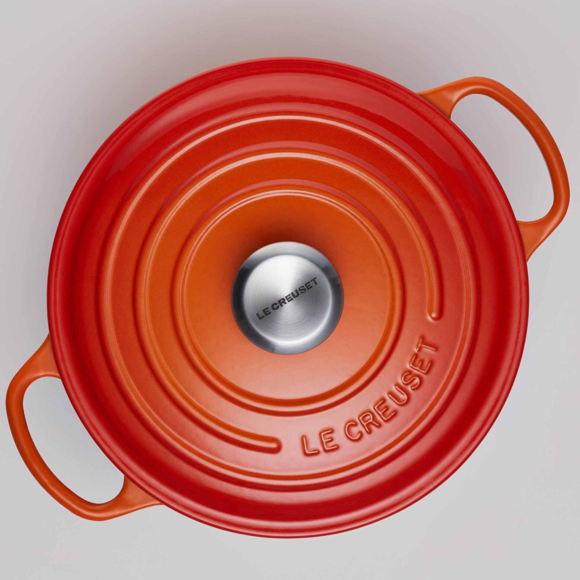 Le Creuset Bräter Signature 22 cm Creme 3,3 L