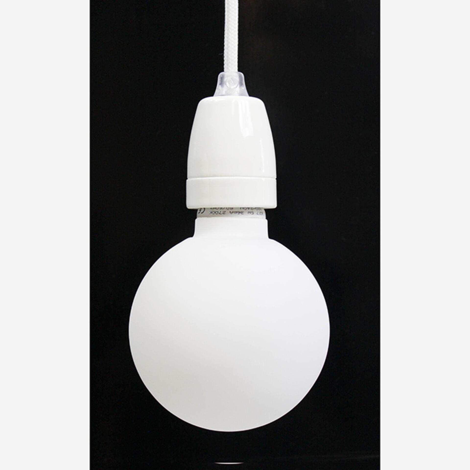 Nud weisse Lampenfassung Keramik Weiß