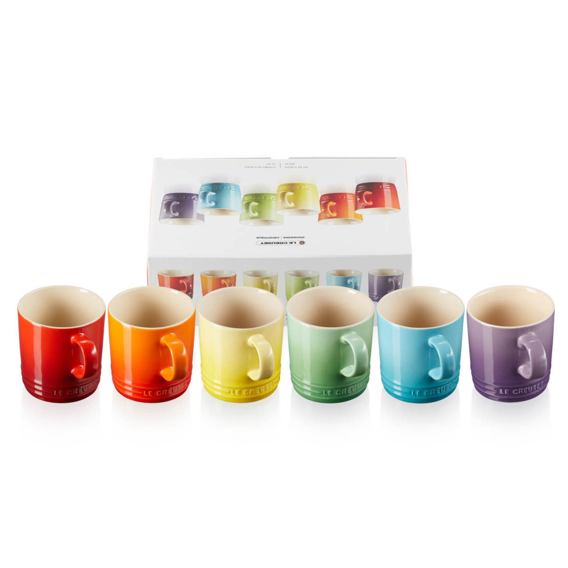 Le Creuset Becher 350 ml 6er-Set Regenbogen