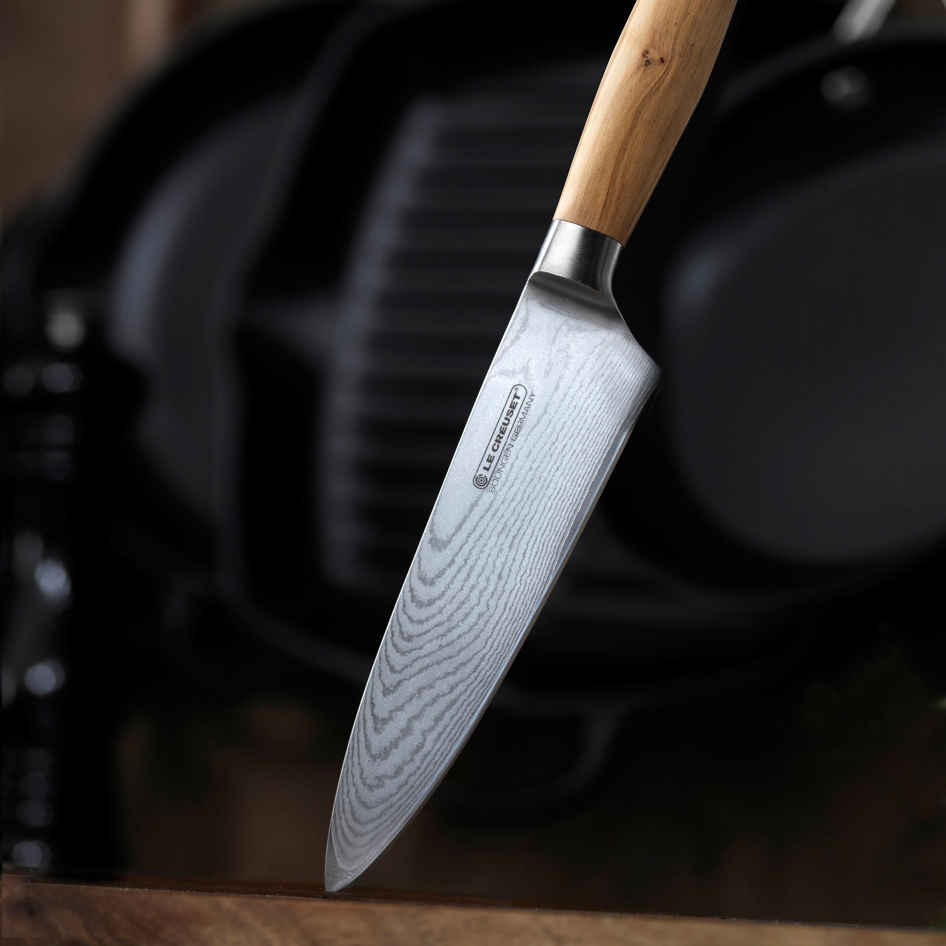 Le Creuset Kochmesser mit Holzgriff Olive 15 cm