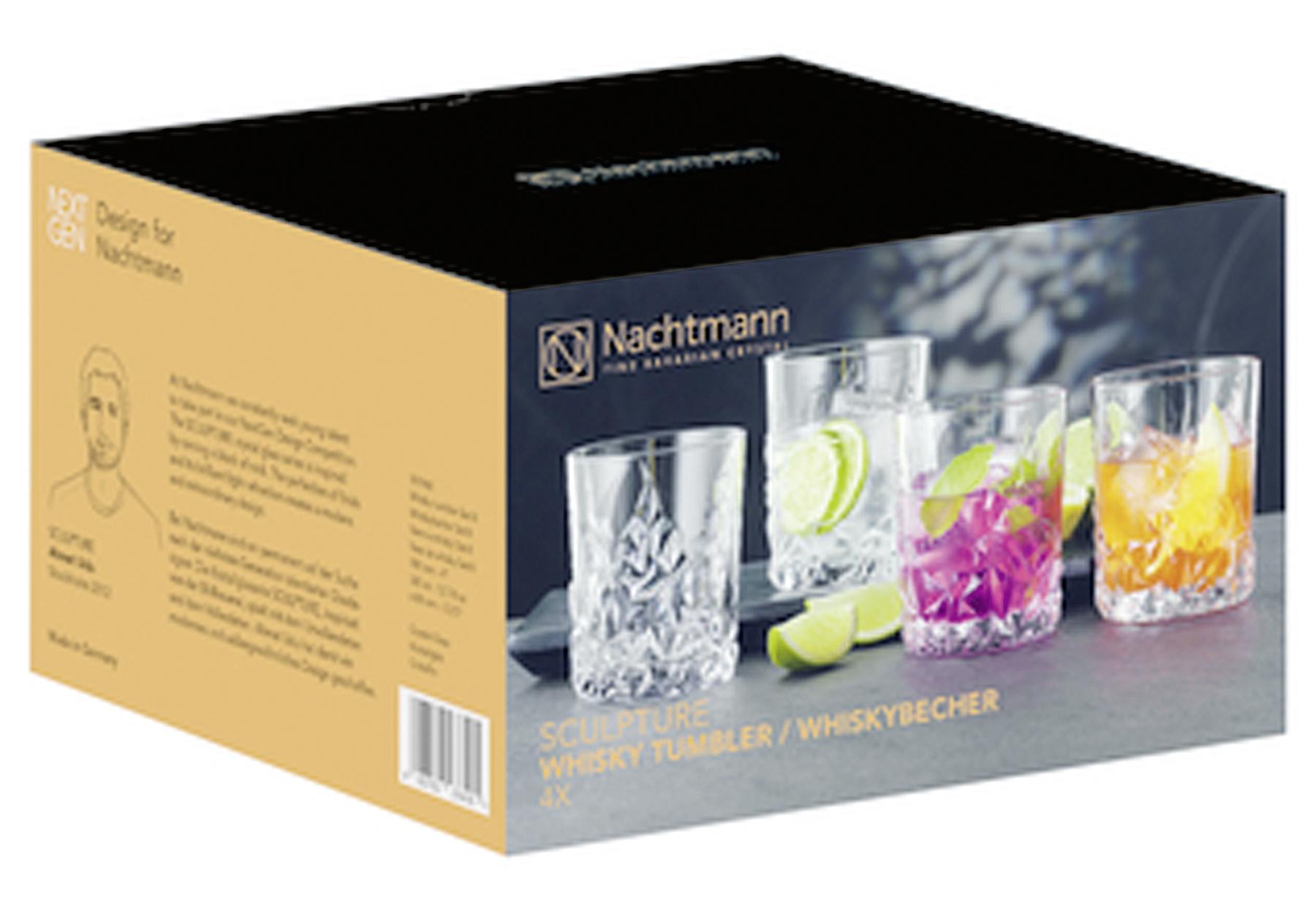 NACHTMANN Whiskybecher Sculpture 365ml 4er Set