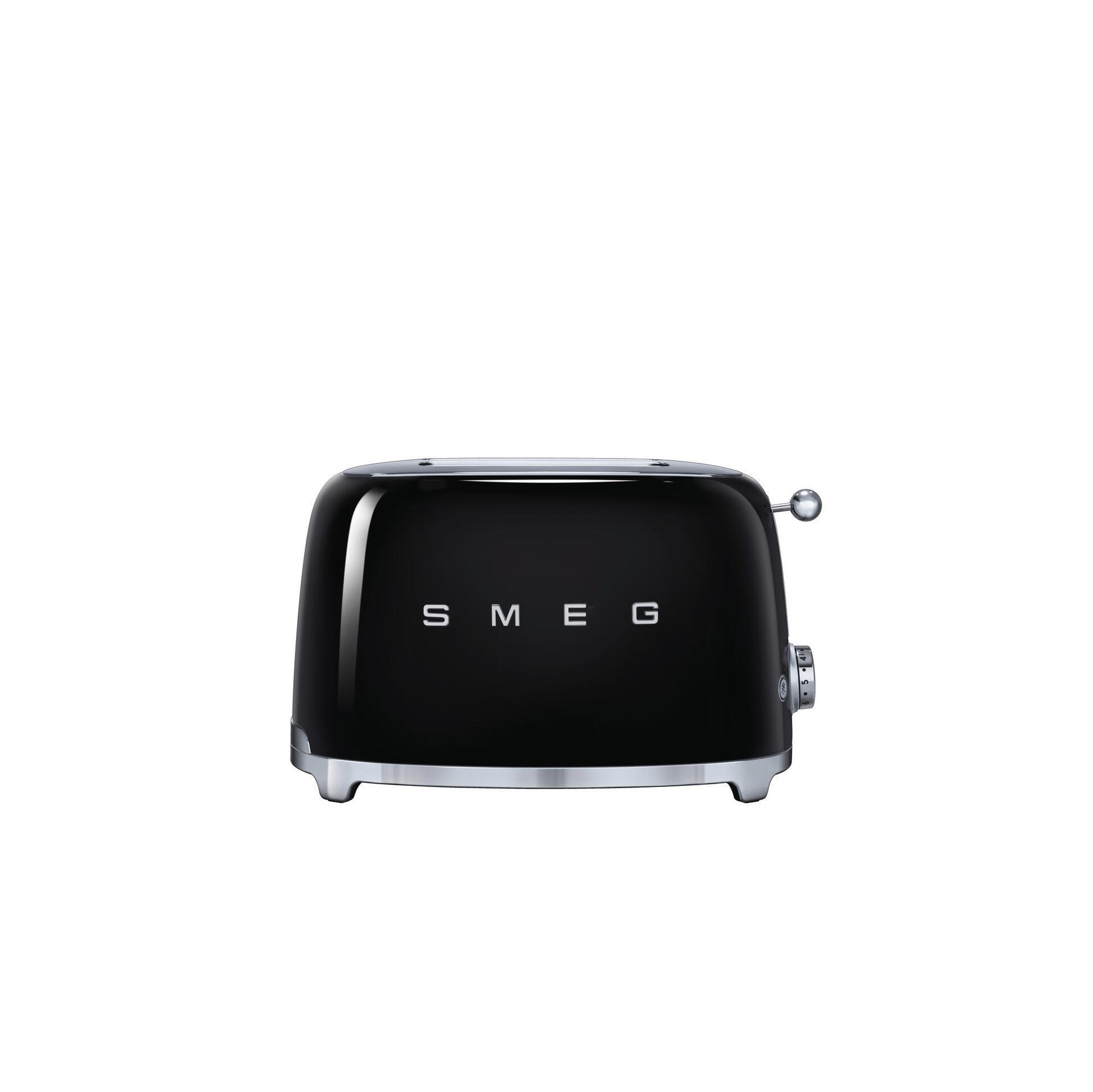 Smeg Retro 2-Scheiben-Toaster Schwarz