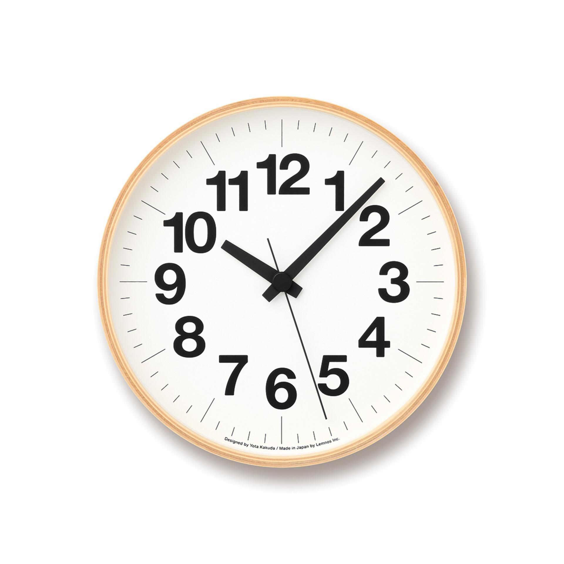 Lemnos Numbers Clock Designuhr Klein