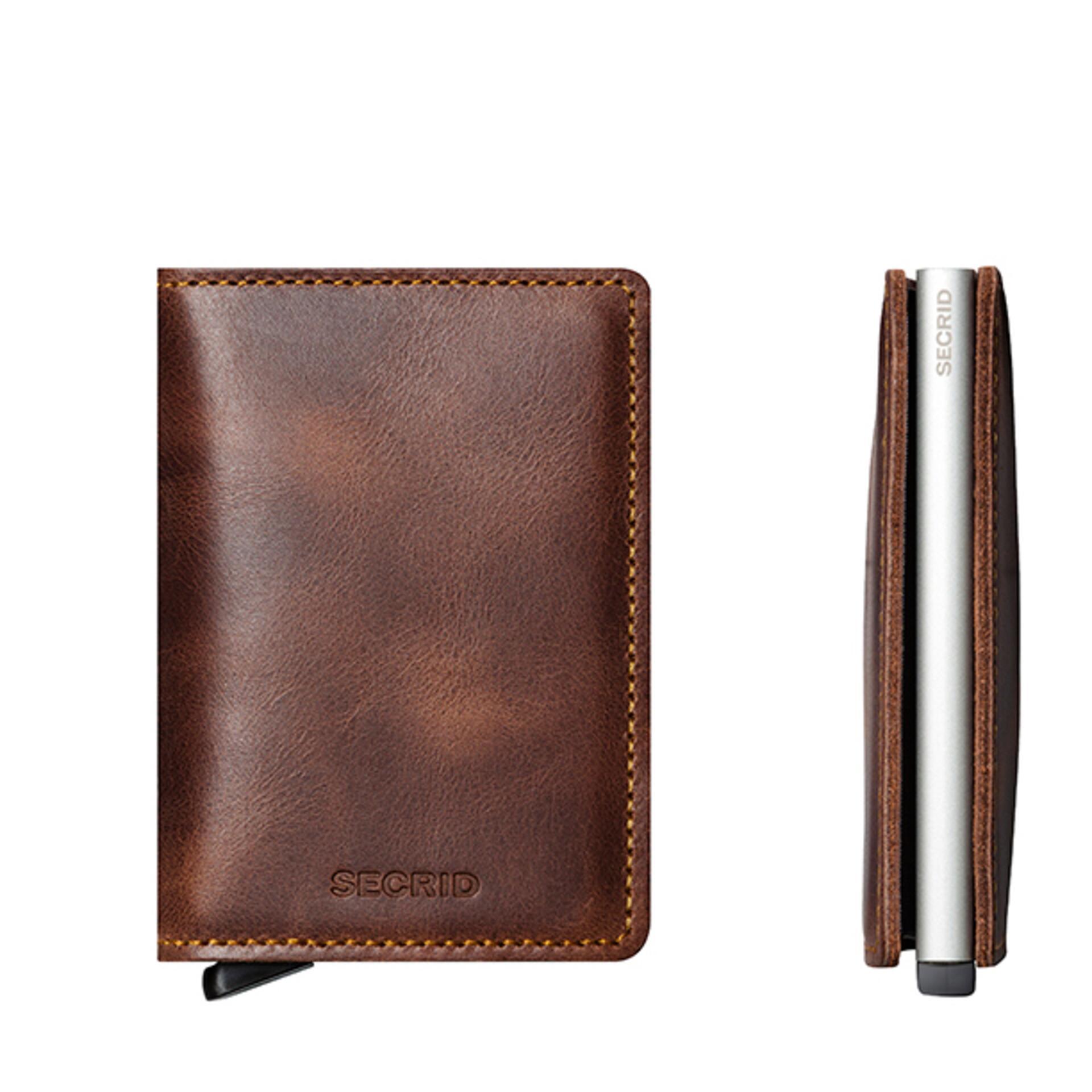 Secrid Slimwallet Vintage Brown Leder