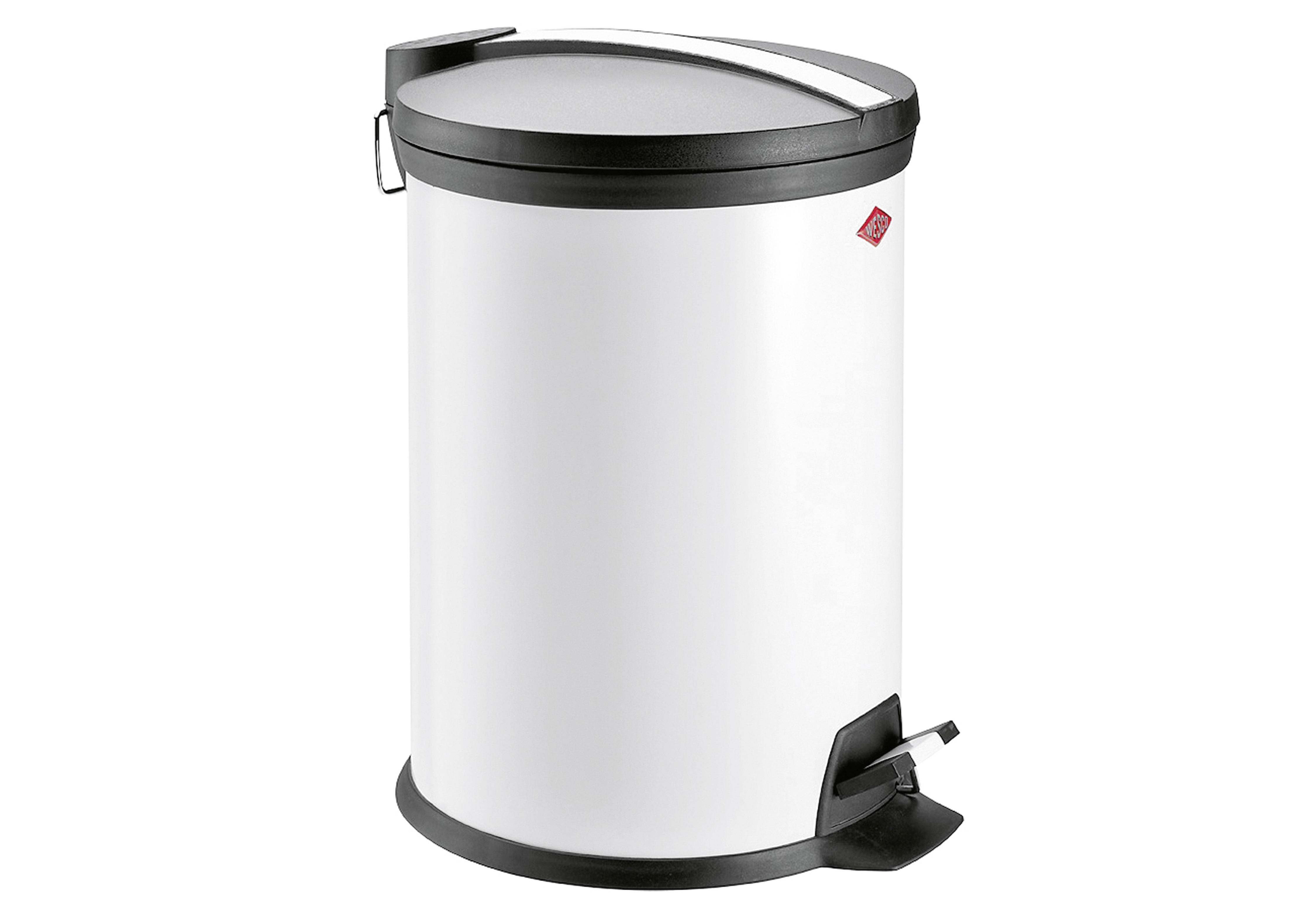 WESCO Treteimer Edelstahl mit Kunststoff-Einsatz 12l H34,5cm weiß