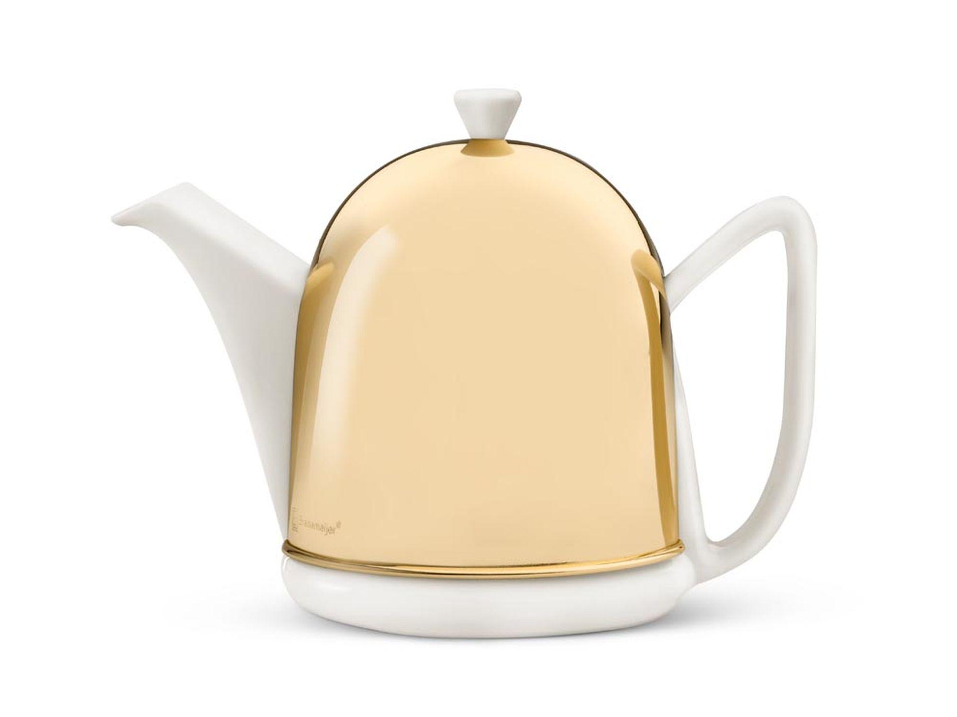 Bredemeijer Teekanne Cosy Manto 1,0 l Messing Weiß