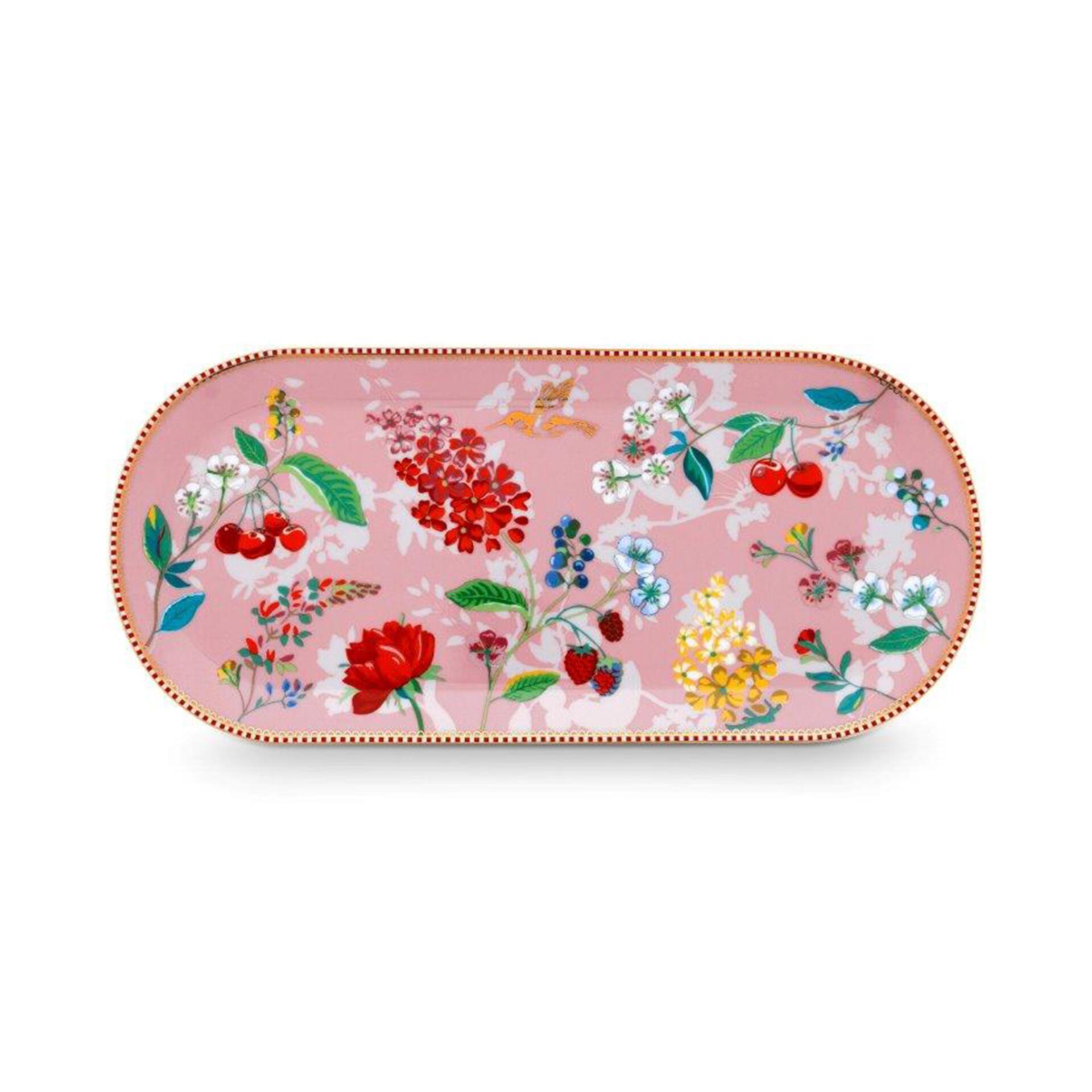 PiP Porzellan Kuchenplatte Hummingbirds Pink