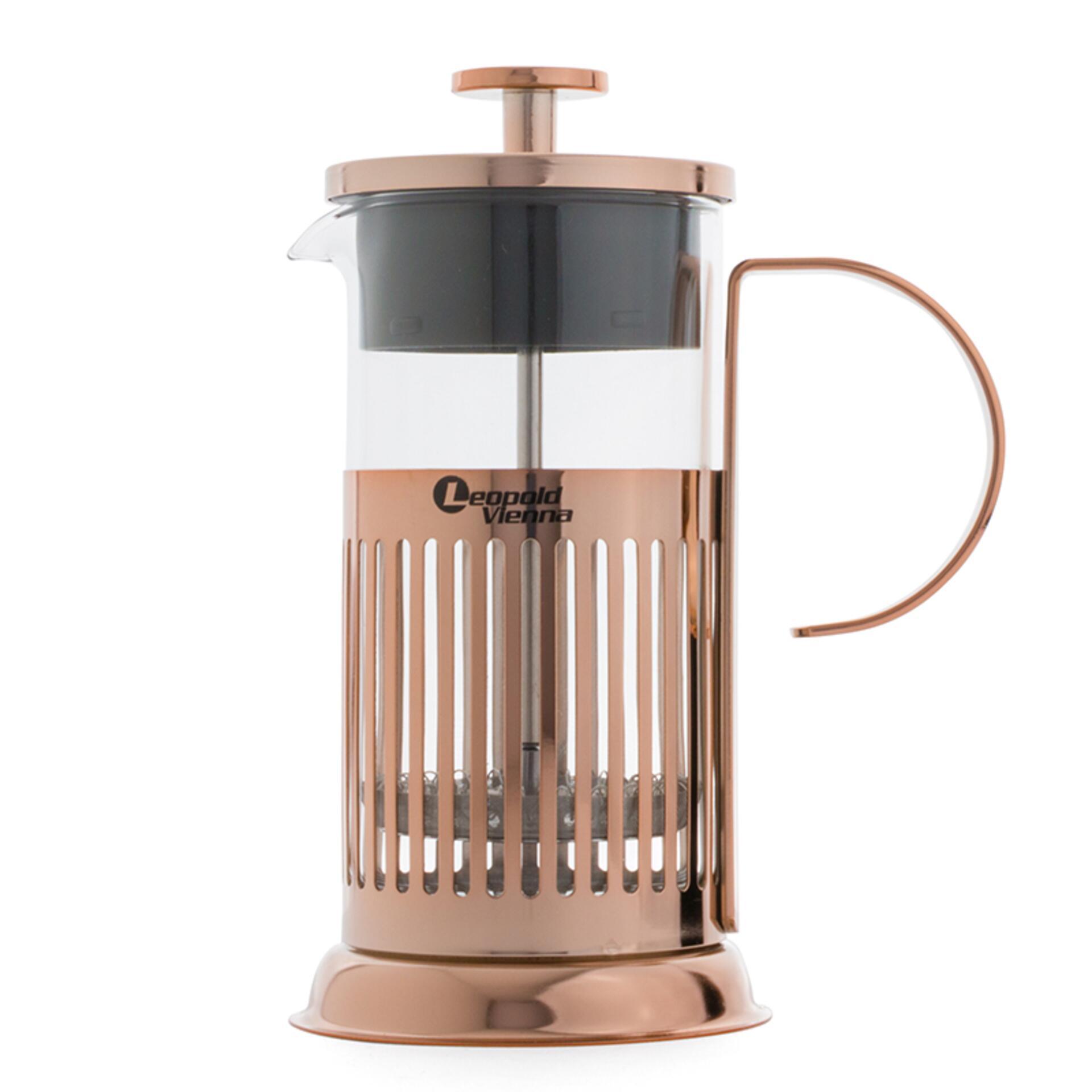 Leopold Vienna Kaffeebereiter French Press Kupfer 350 ml