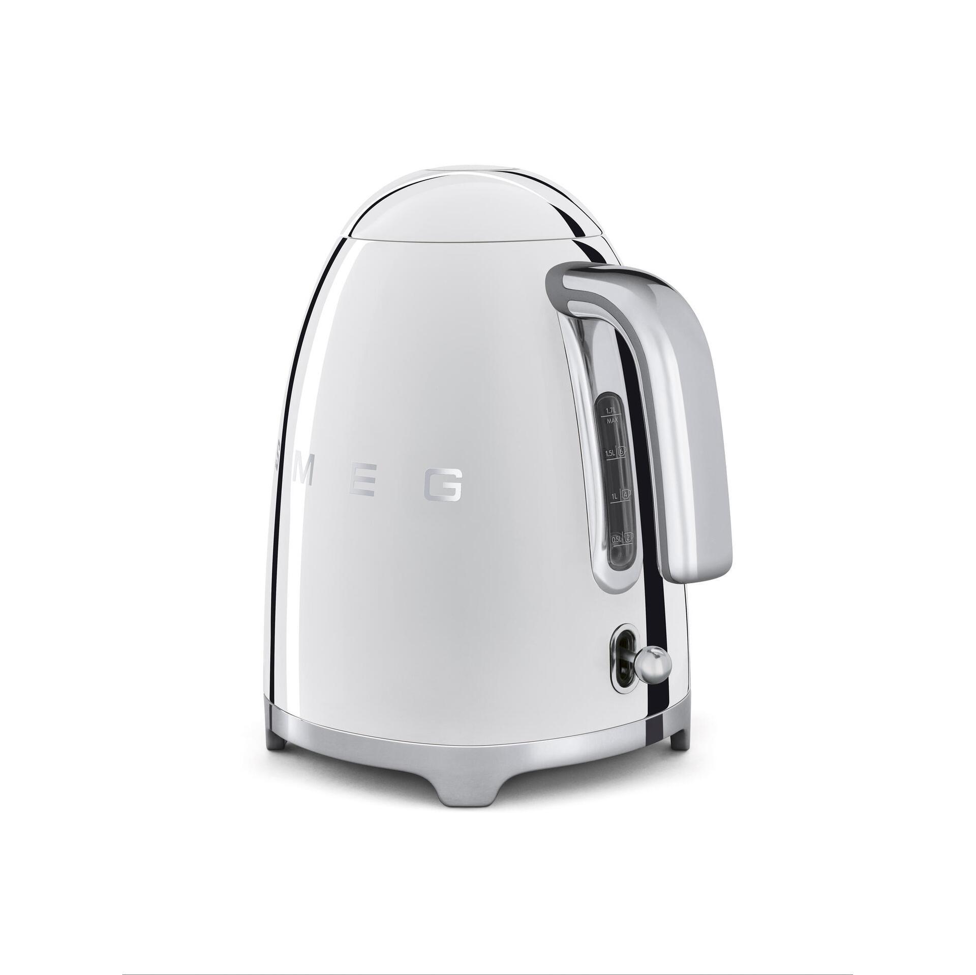 Smeg Retro Wasserkocher 1,7 Liter Chrom