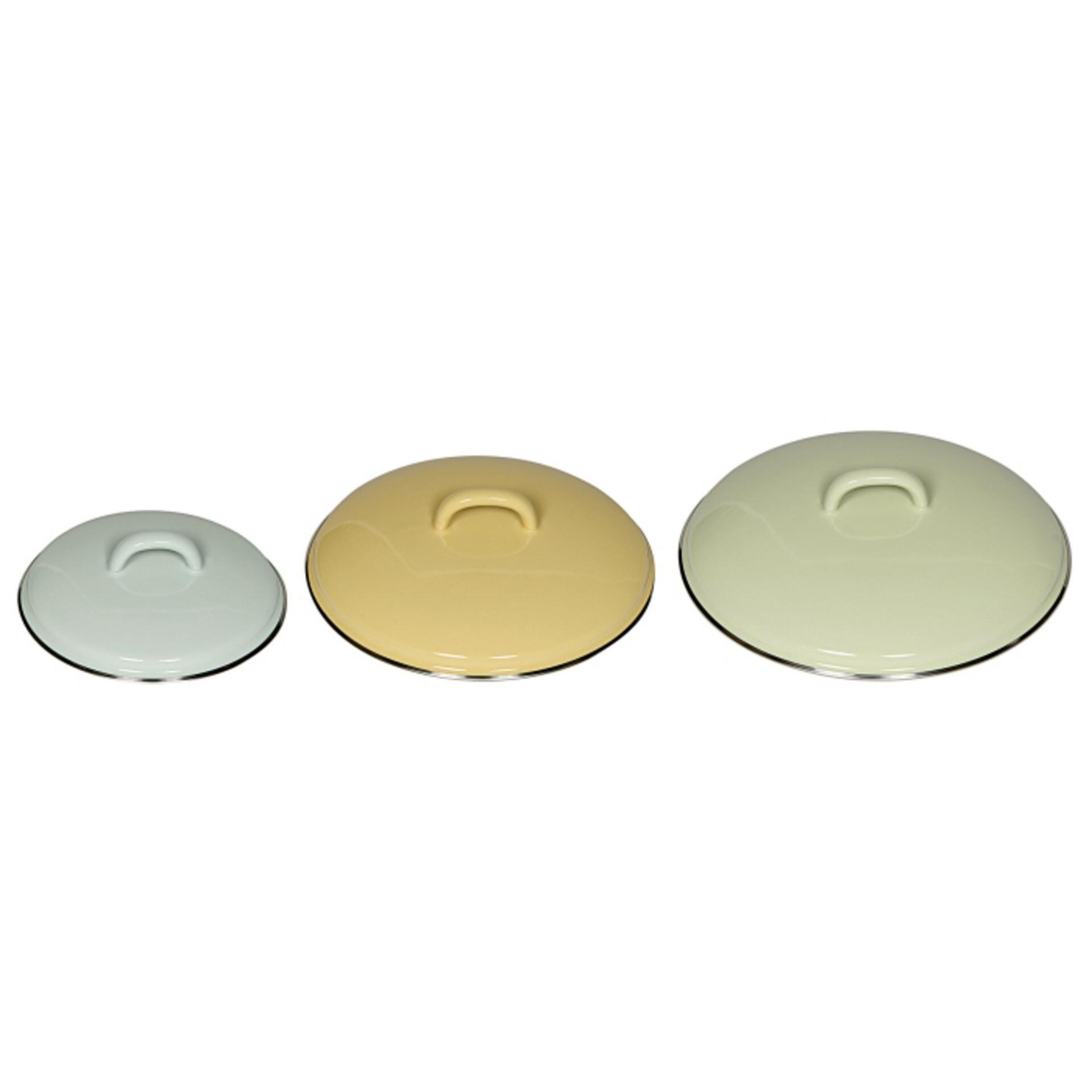 Riess Deckel aus Emaille 14 cm Türkis