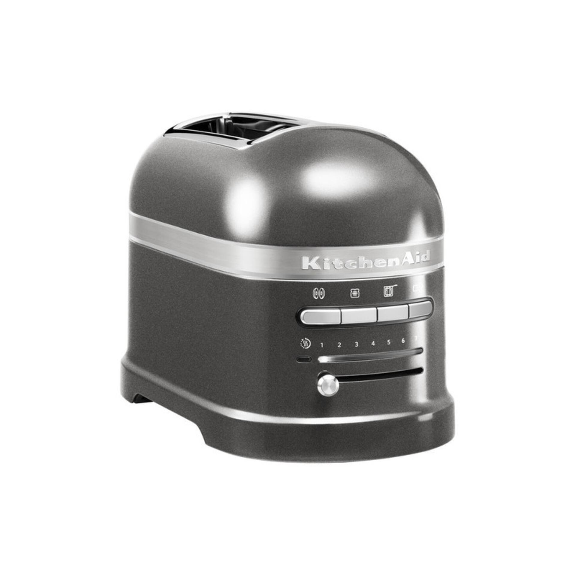Kitchenaid 2-Scheiben-Toaster Medaillon Silber 5KMT2204EMS