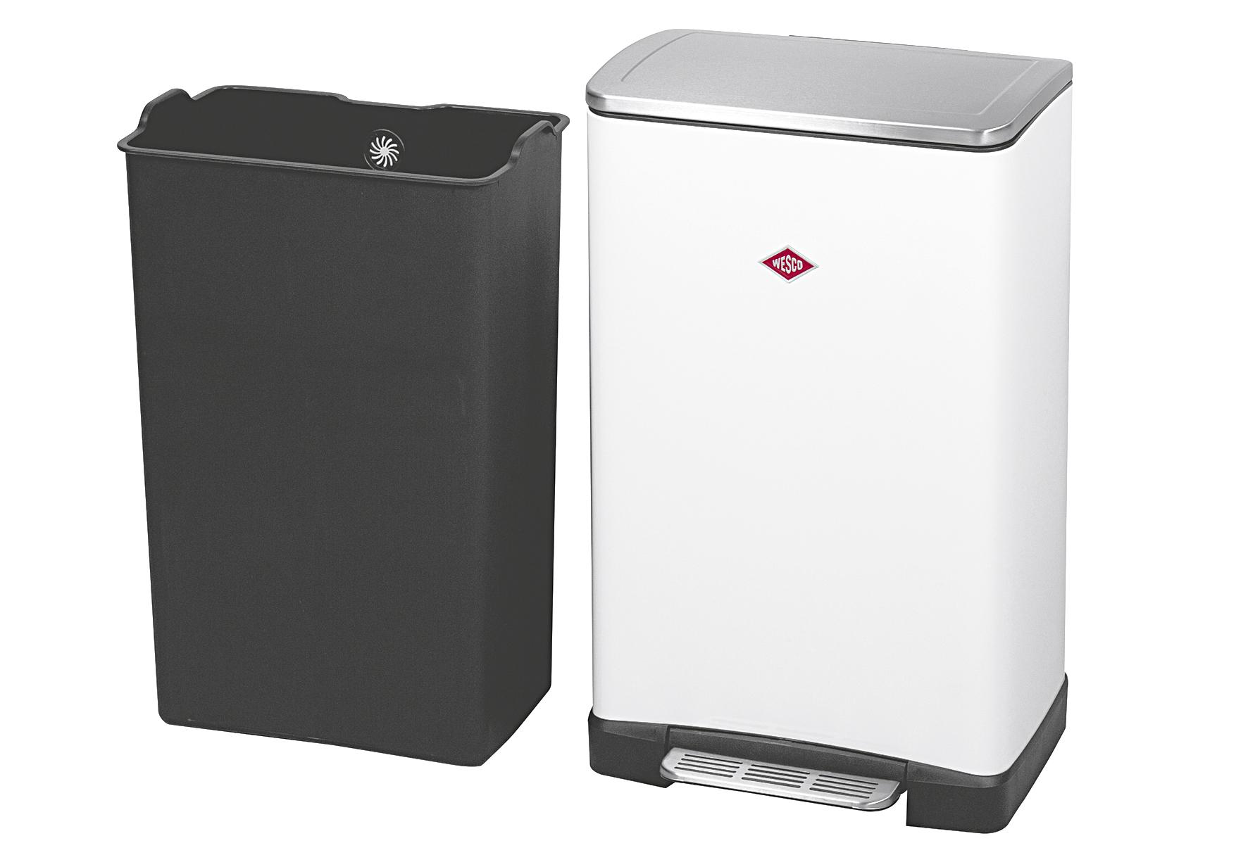 WESCO Abfallbehälter One Boy 40 l 40,5x34,5x65cm weiß