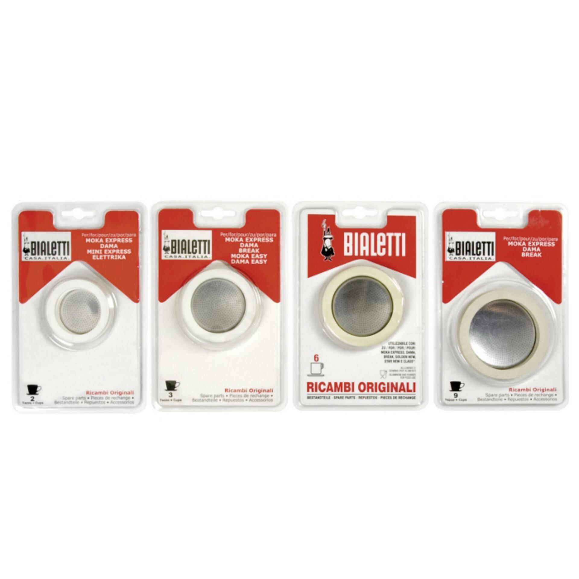 Bialetti Gummidichtung und Filter Aluminiummaschinen 3 Tassen