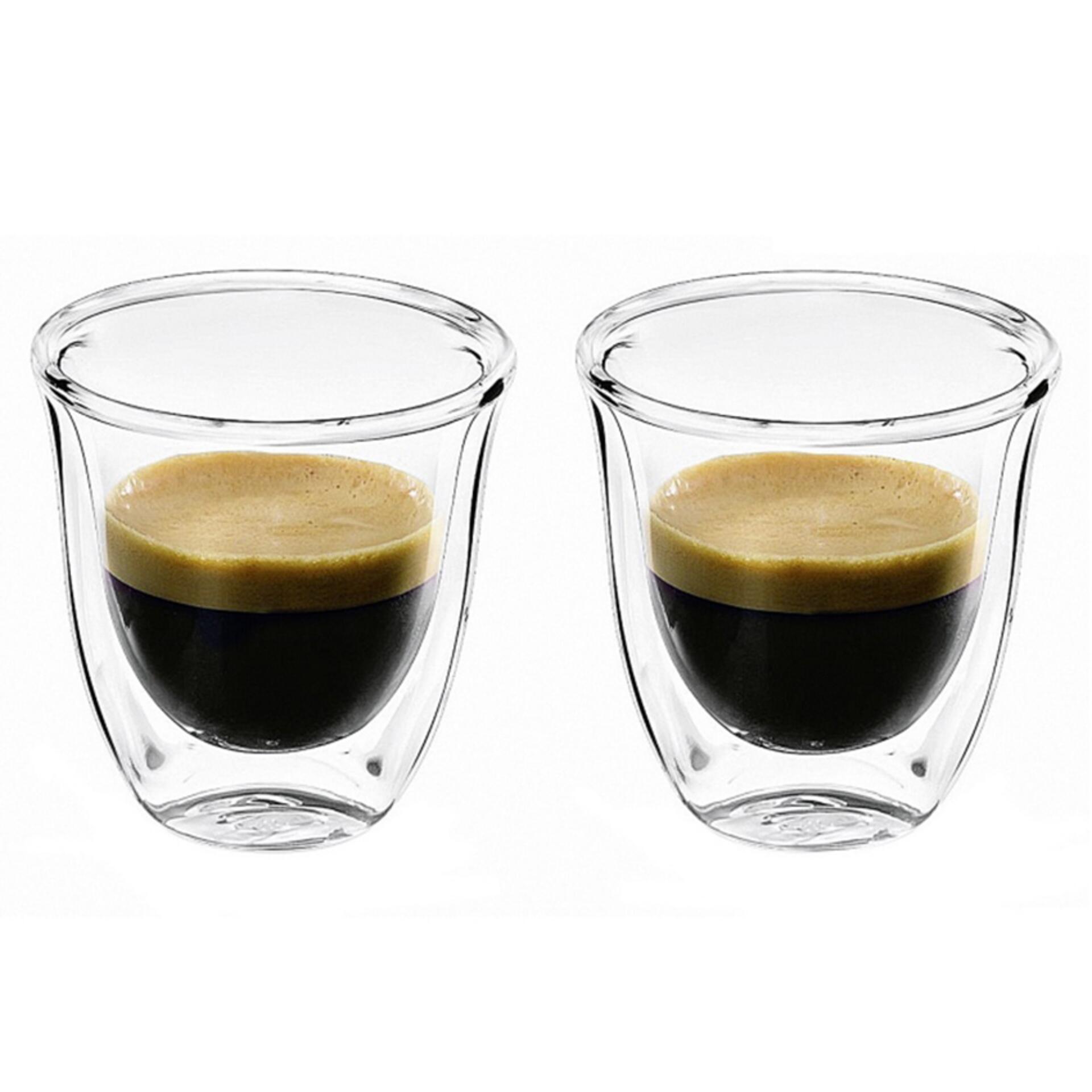 De'Longhi Espressotassen aus Glas 2er-Set