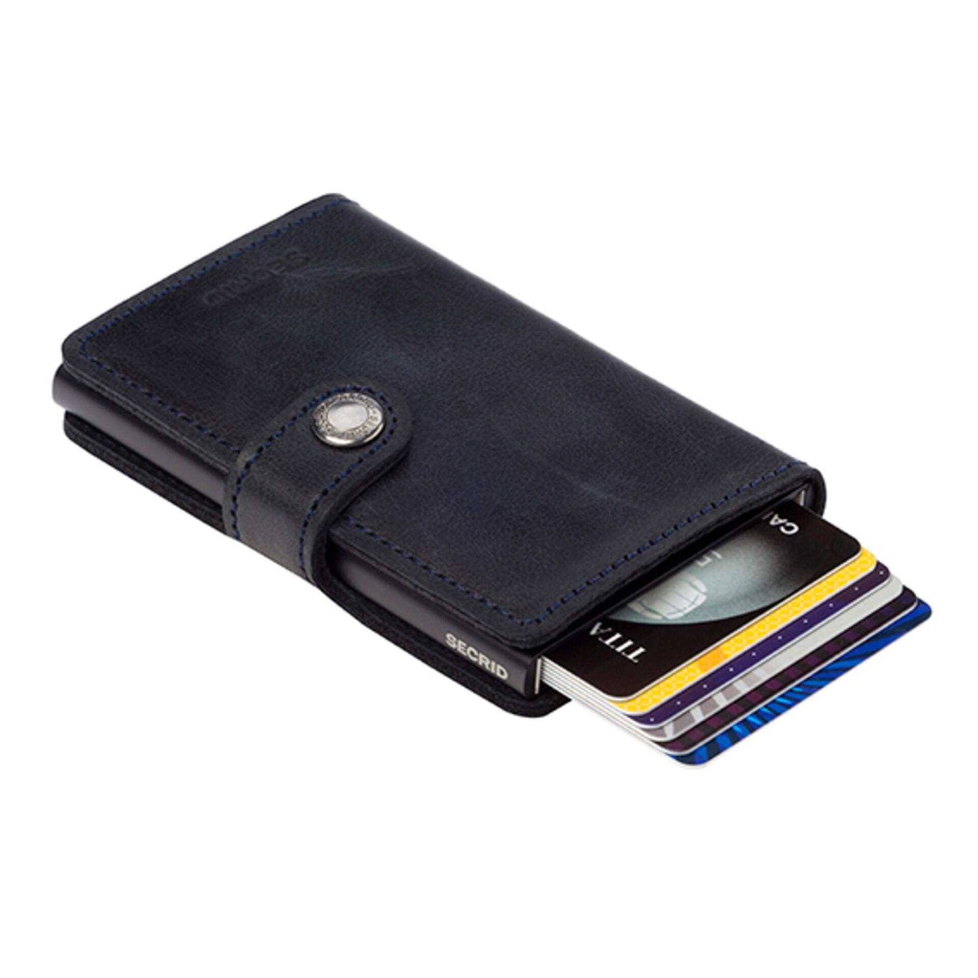 Secrid Miniwallet Vintage Black Leder