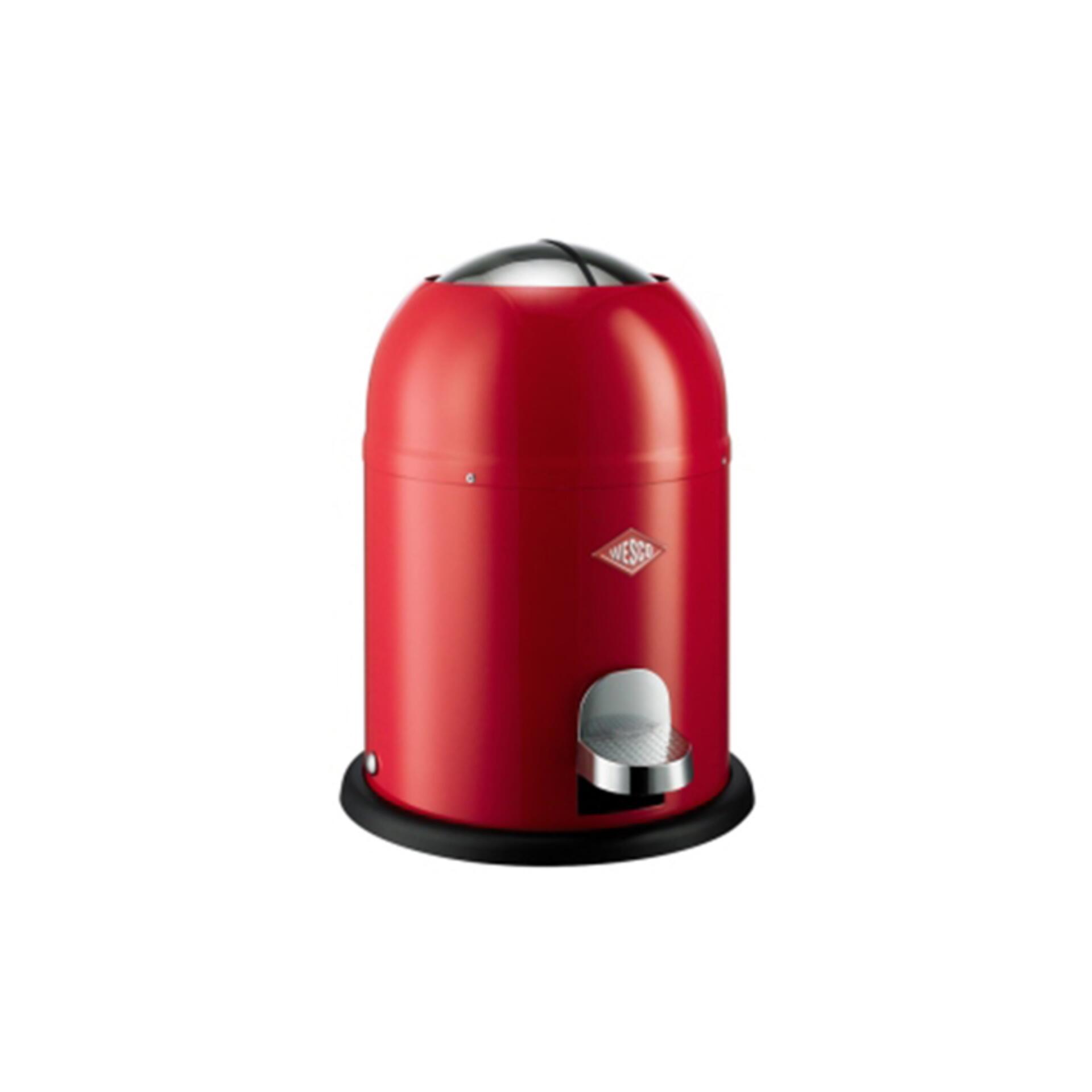 Wesco Tret-Abfalleimer Singlemaster 9 l Rot