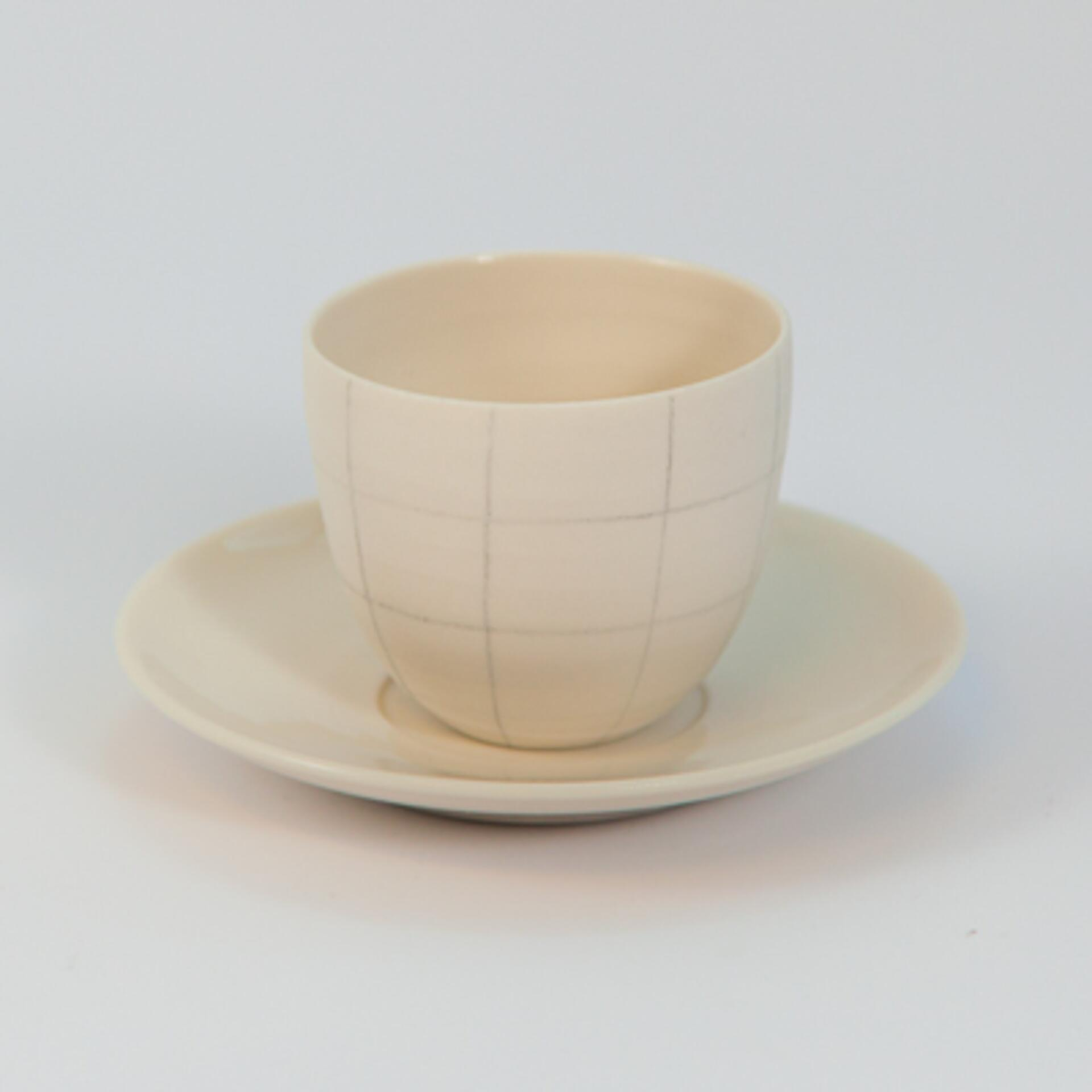 Schoemig Porzellan Espressotasse Graph Quadrat Groß