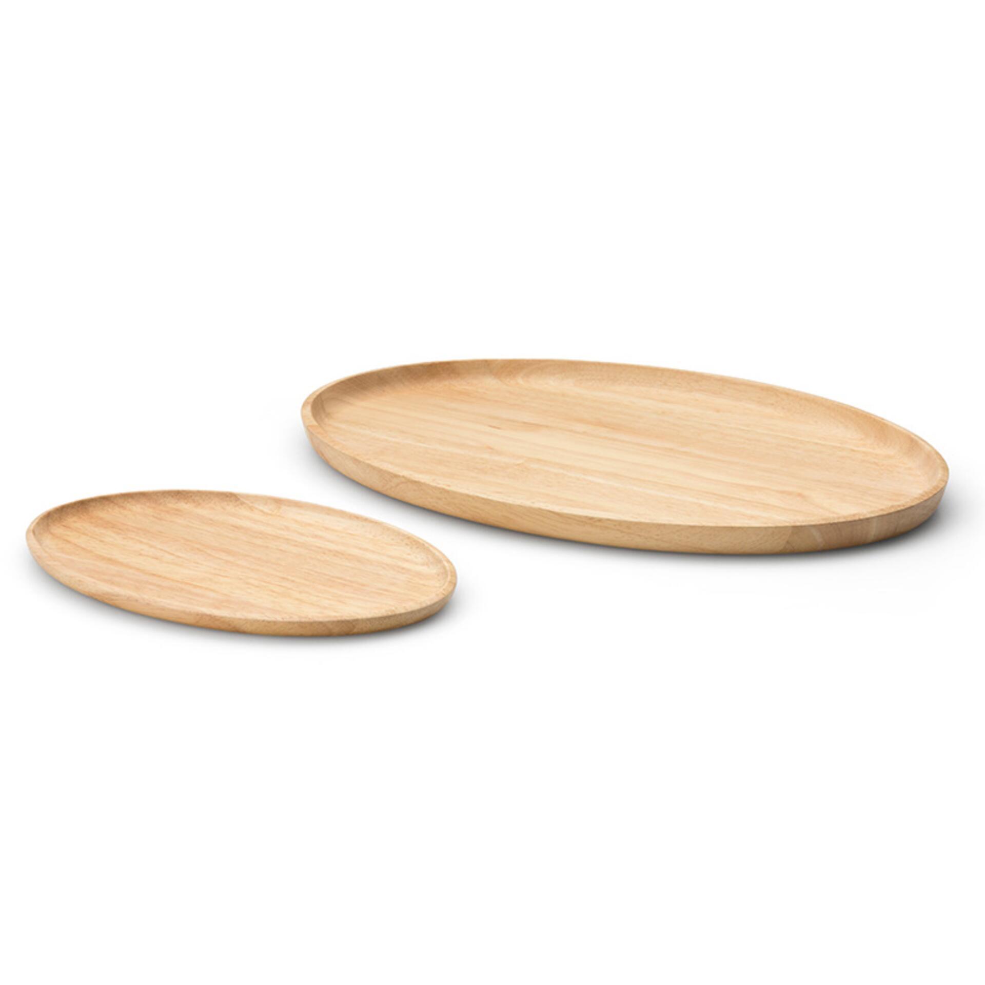 Continenta Tablett oval Holz 36,5 x 25 x 2 cm