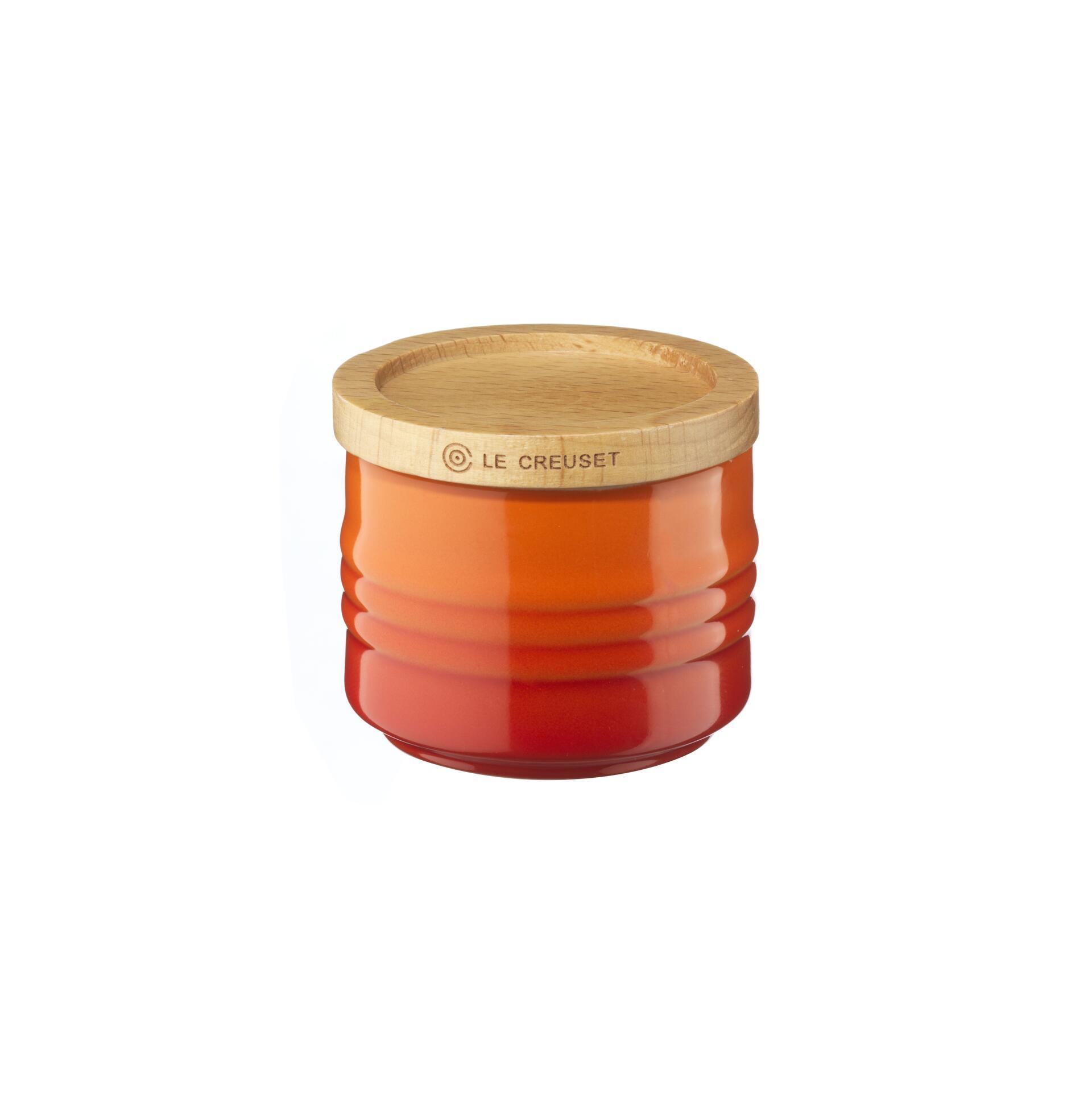 Le Creuset Zuckerdose Ofenrot