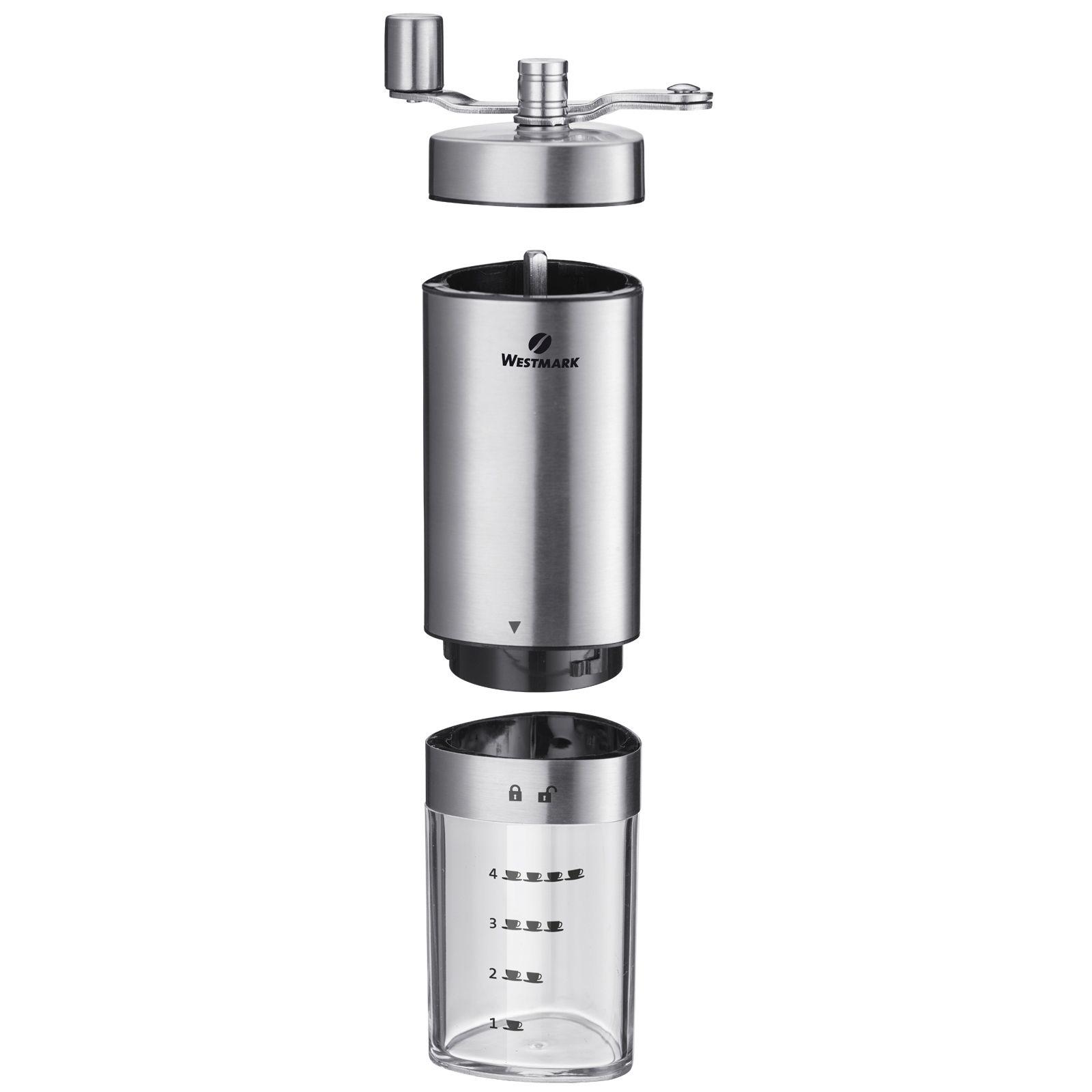 WESTMARK Kaffeemühle Brasilia Handmühle mit Edelstahlgehäuse