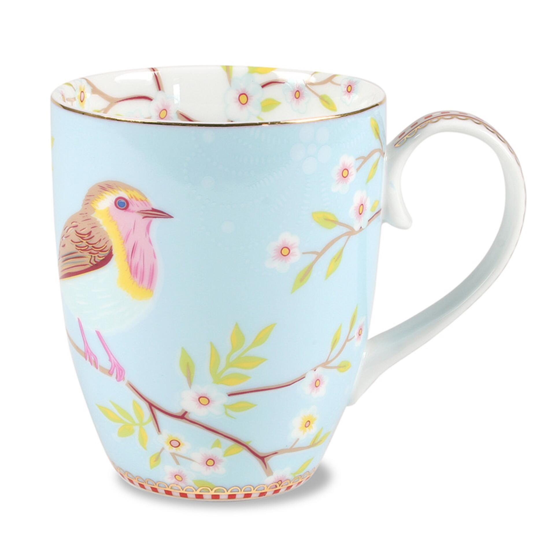 PiP Porzellan Kaffeetasse Early Bird Blau