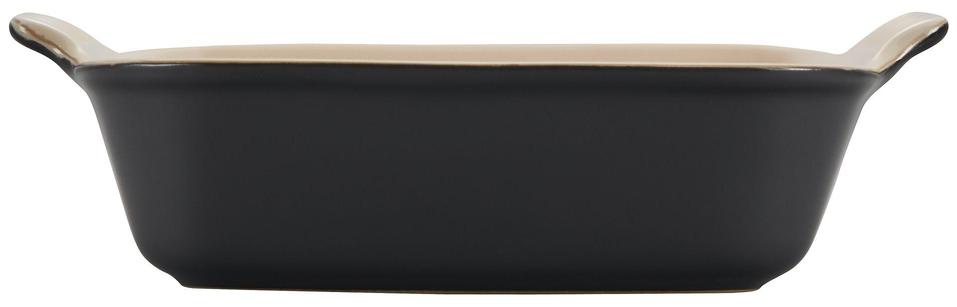 Le Creuset Auflaufform Tradition quadratisch 23 cm Schwarz