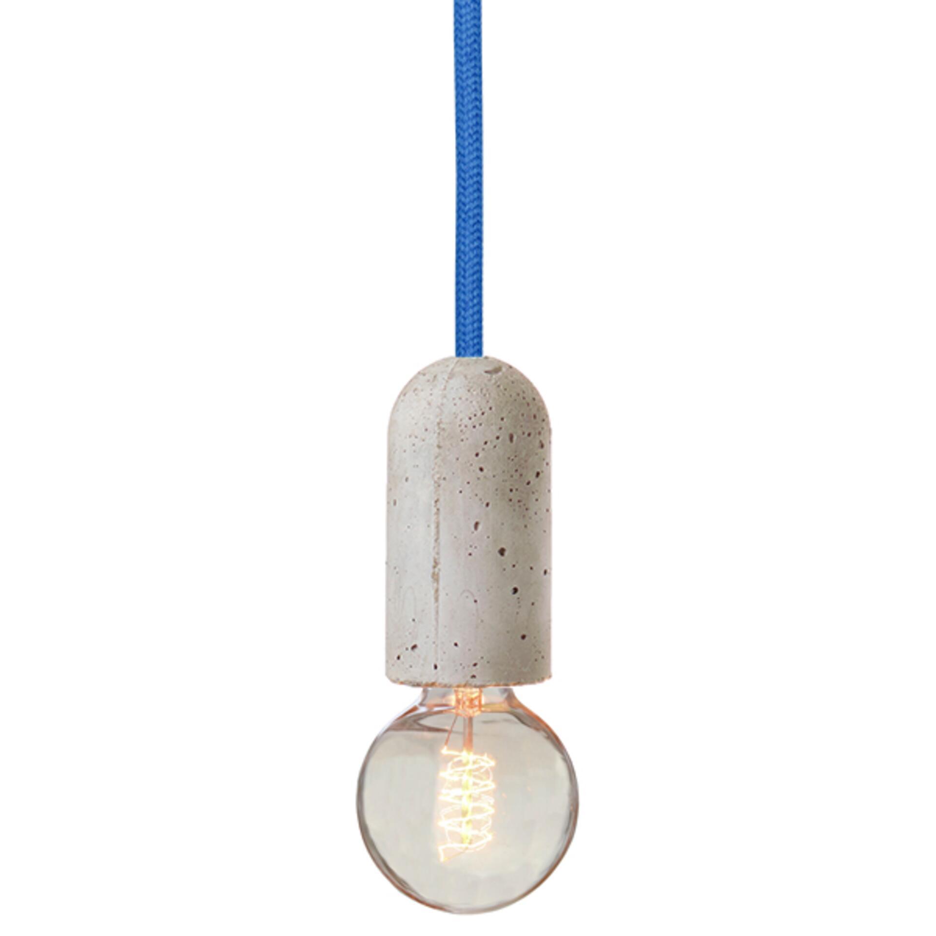 Nud Lampenfassung Beton Blau