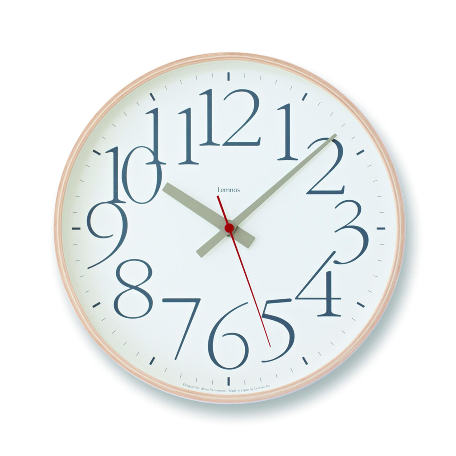 Lemnos AY Clock L Wanduhr Weiss