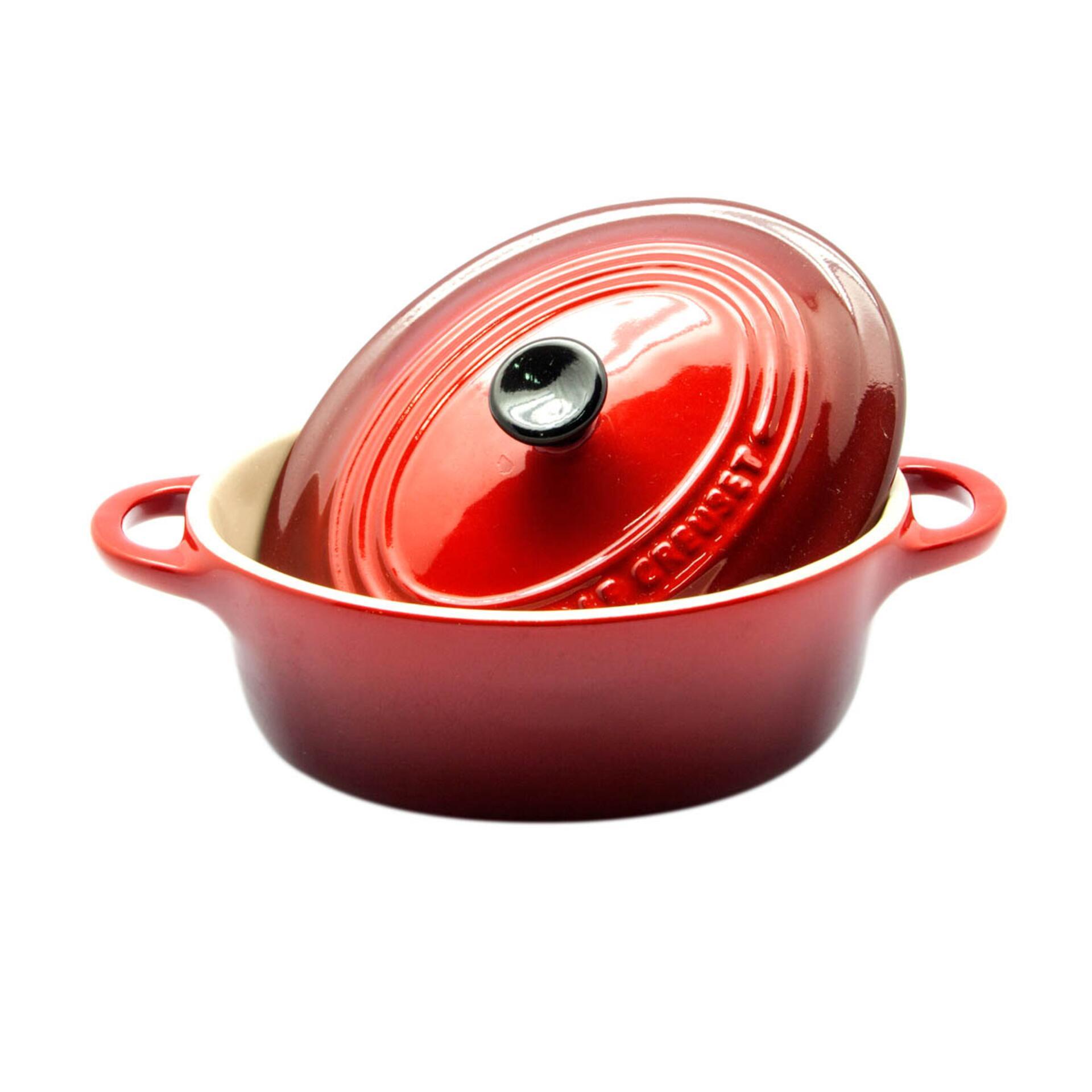 Le Creuset Mini-Cocotte Oval 12 cm Kirschrot