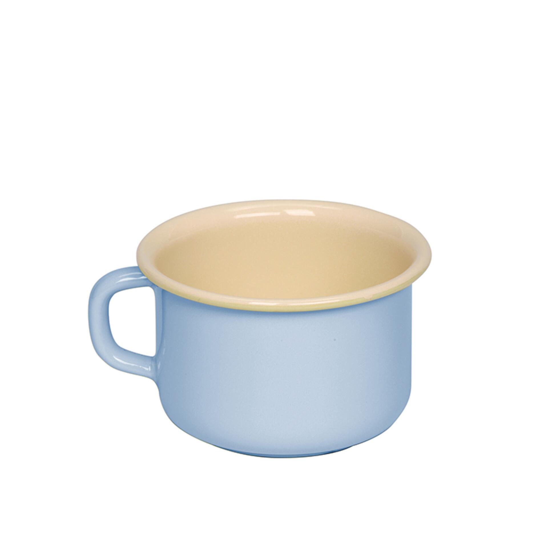 Riess Kaffeeschale Emaille 10 cm Blau