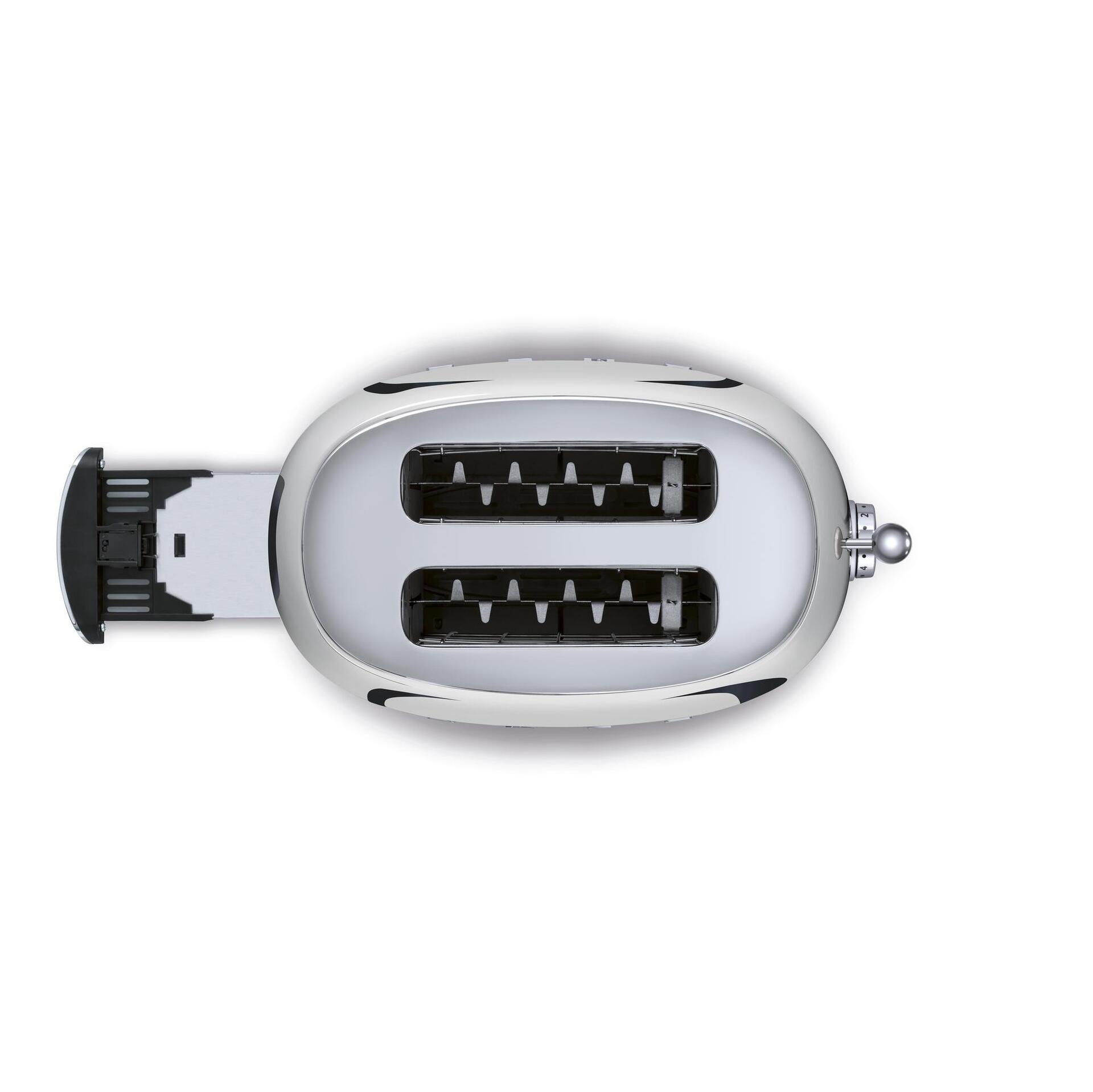 Smeg Retro 2-Scheiben-Toaster Chrom