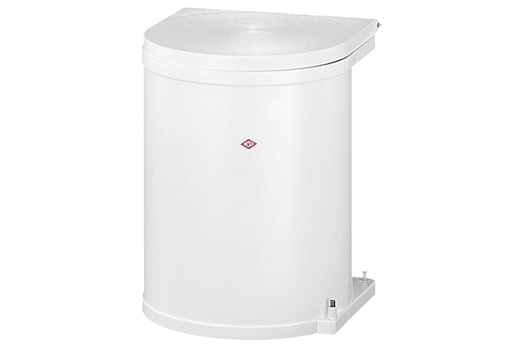 WESCO Einbau-Abfalleimer 11 l 30cm weiß