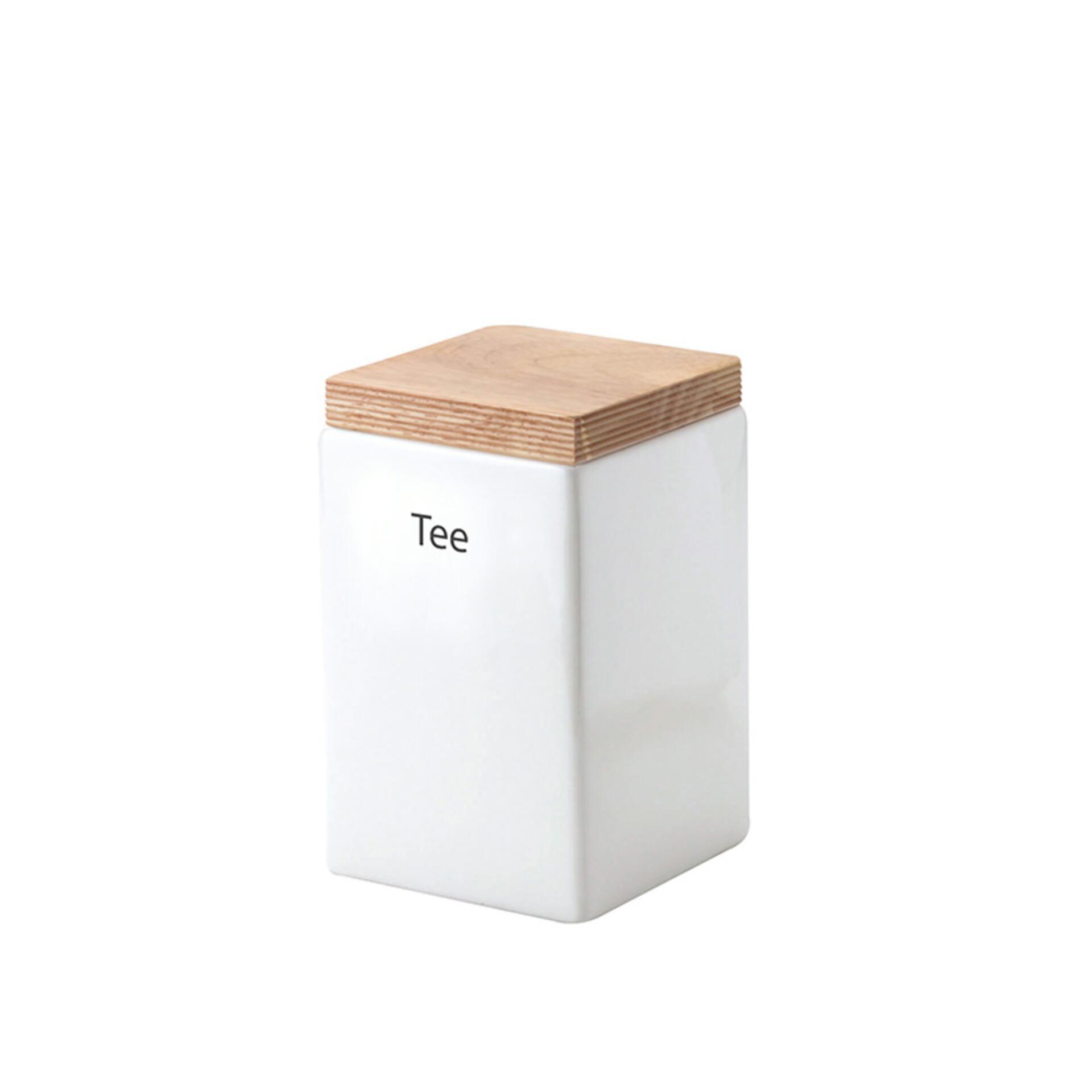 Continenta Vorratsdose quadratisch mit Holzdeckel 1000 ml