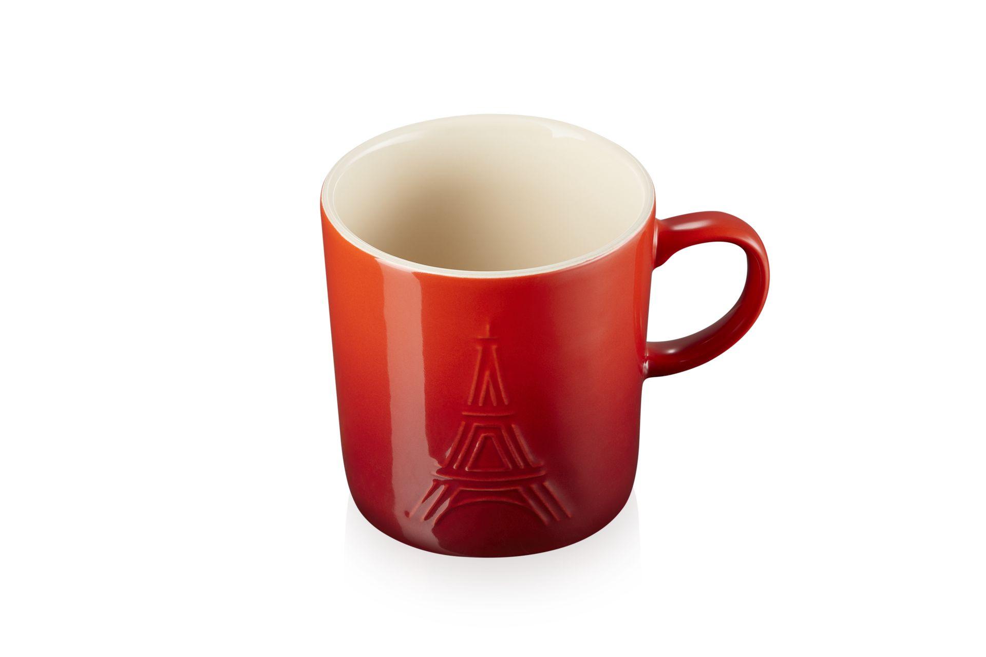 Le Creuset Eiffelturm Becher 350 ml Kirschrot