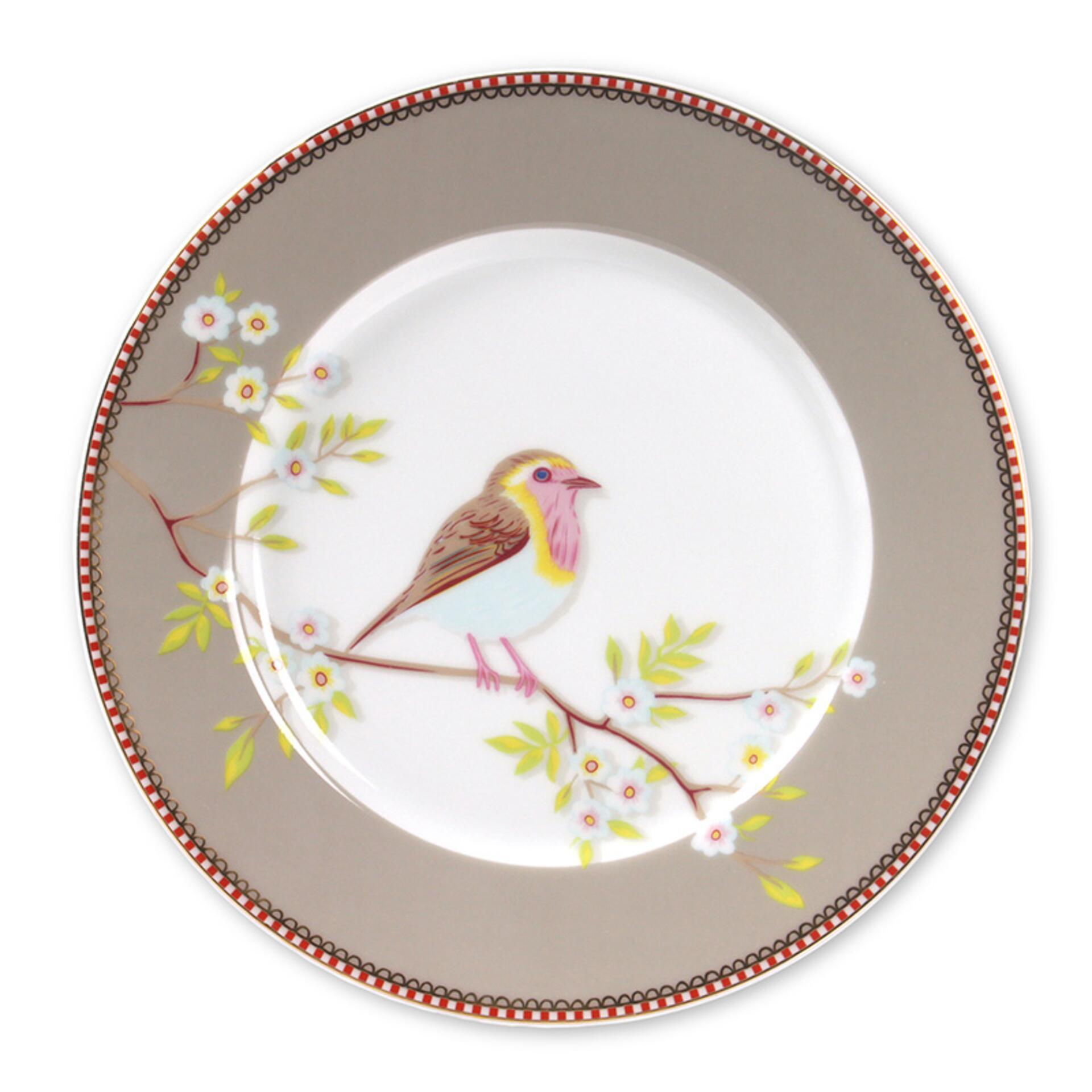PiP Porzellan Frühstücksteller Early Bird Khaki