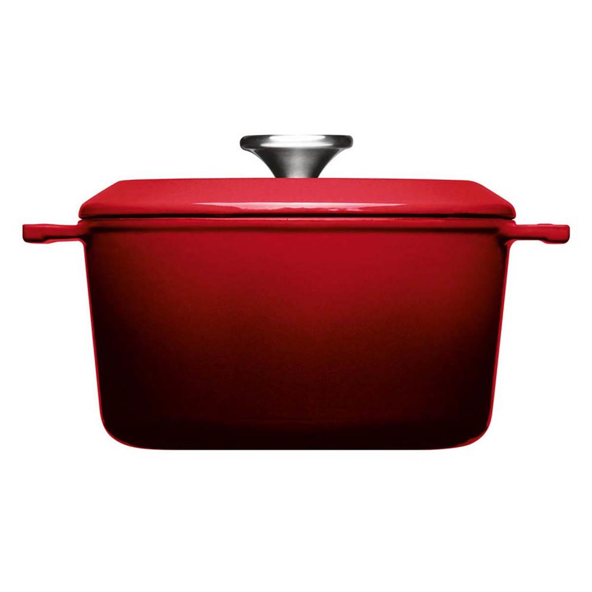 Woll Iron Gusstopf mit Deckel 20 cm Rot