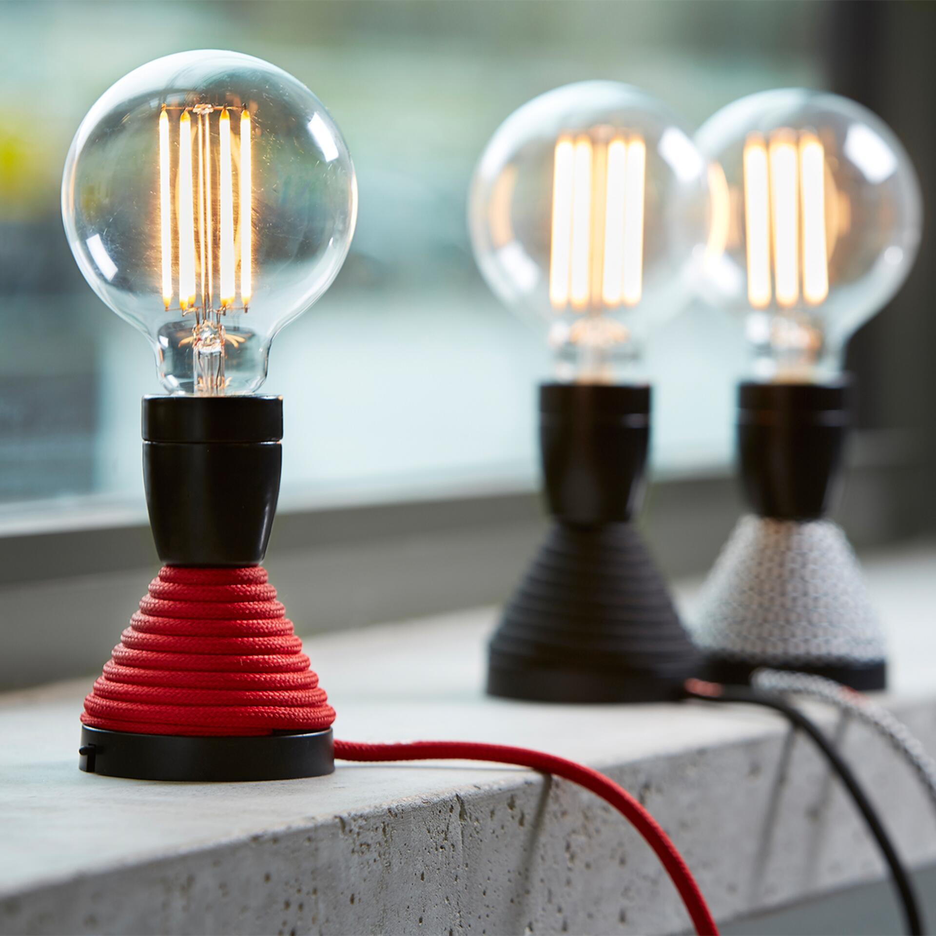Nud LED Glühbirne Globe 125 mm dimmbar Straight