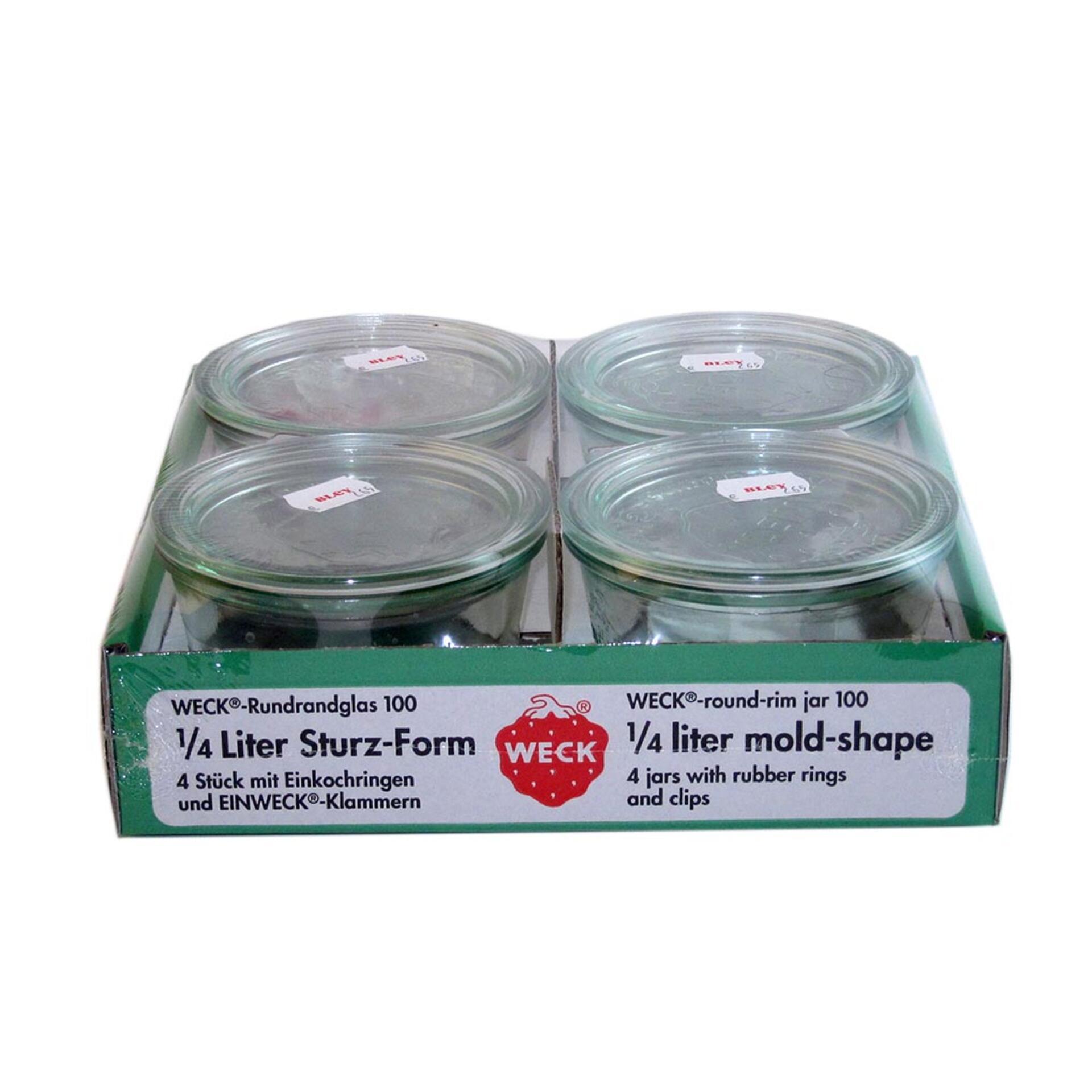 Weck 4er Set Sturzglas 250 ml