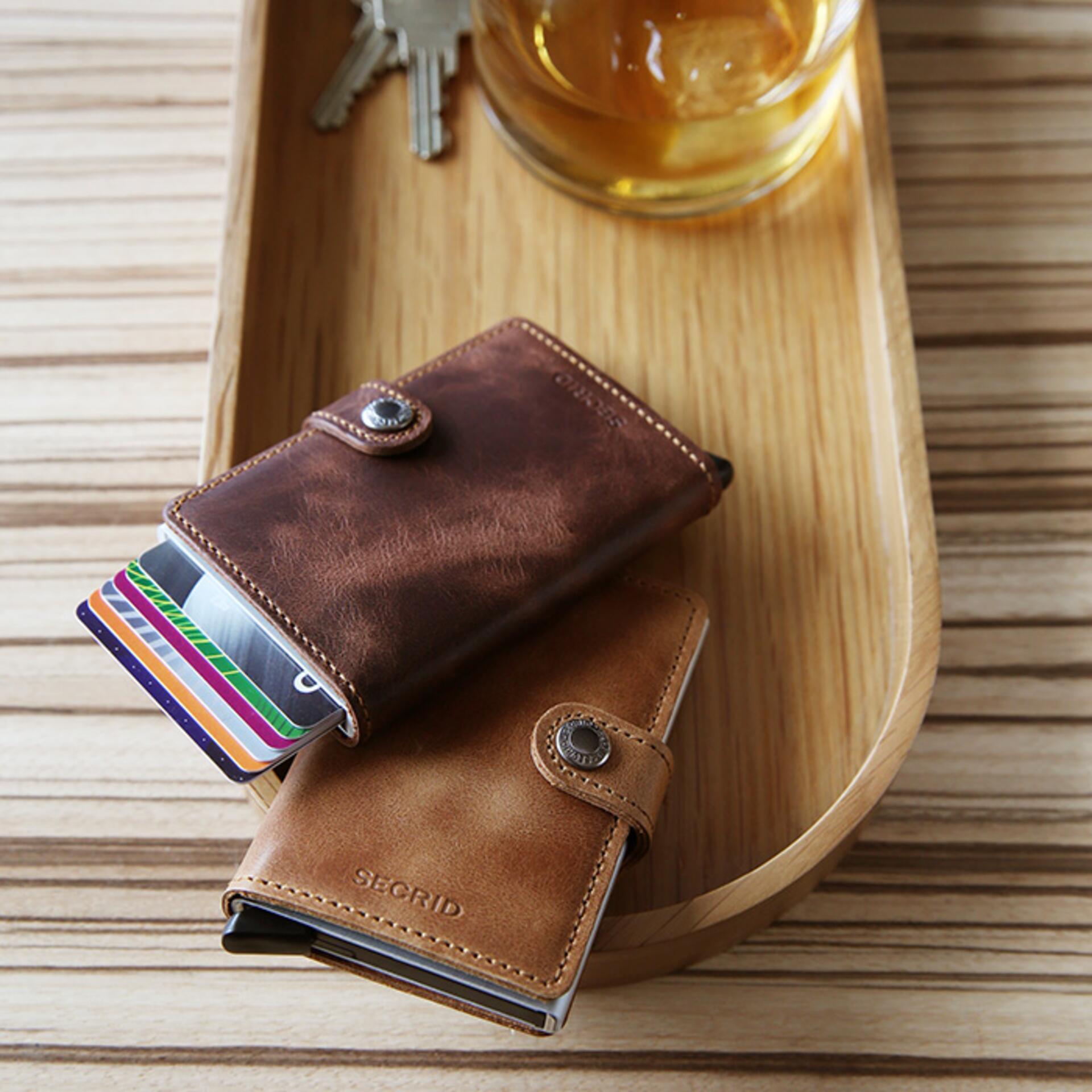 Secrid Miniwallet Vintage Brown Leder
