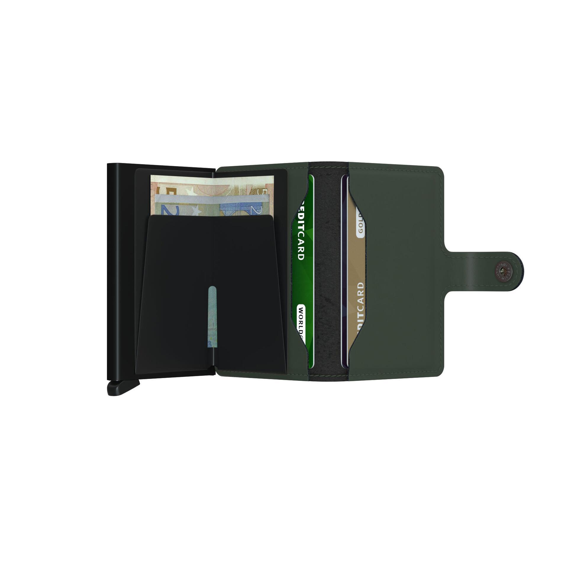 Secrid Miniwallet Matte Green Black Leder