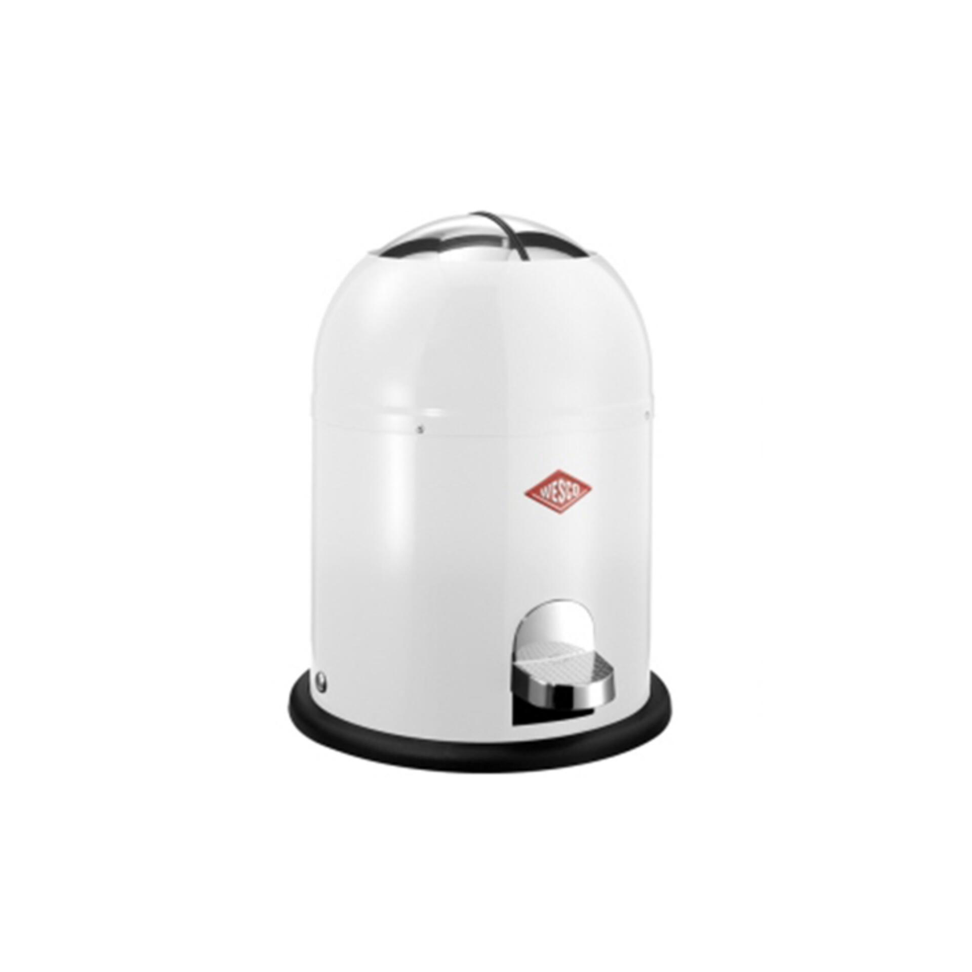 Wesco Tret-Abfalleimer Singlemaster 9 l Weiß