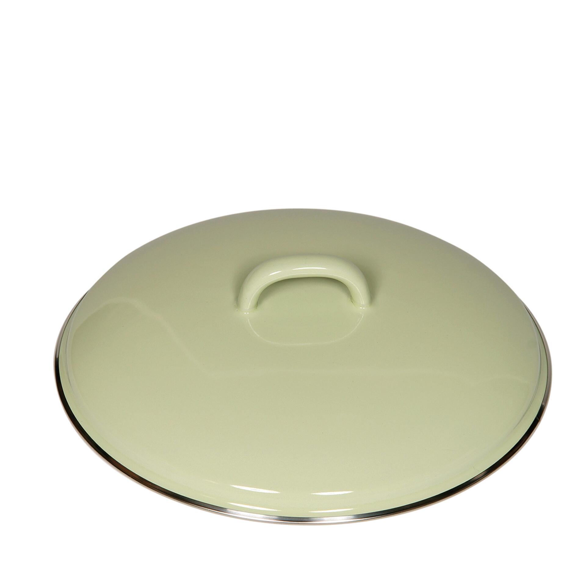 Riess Deckel aus Emaille 22 cm Nilgrün