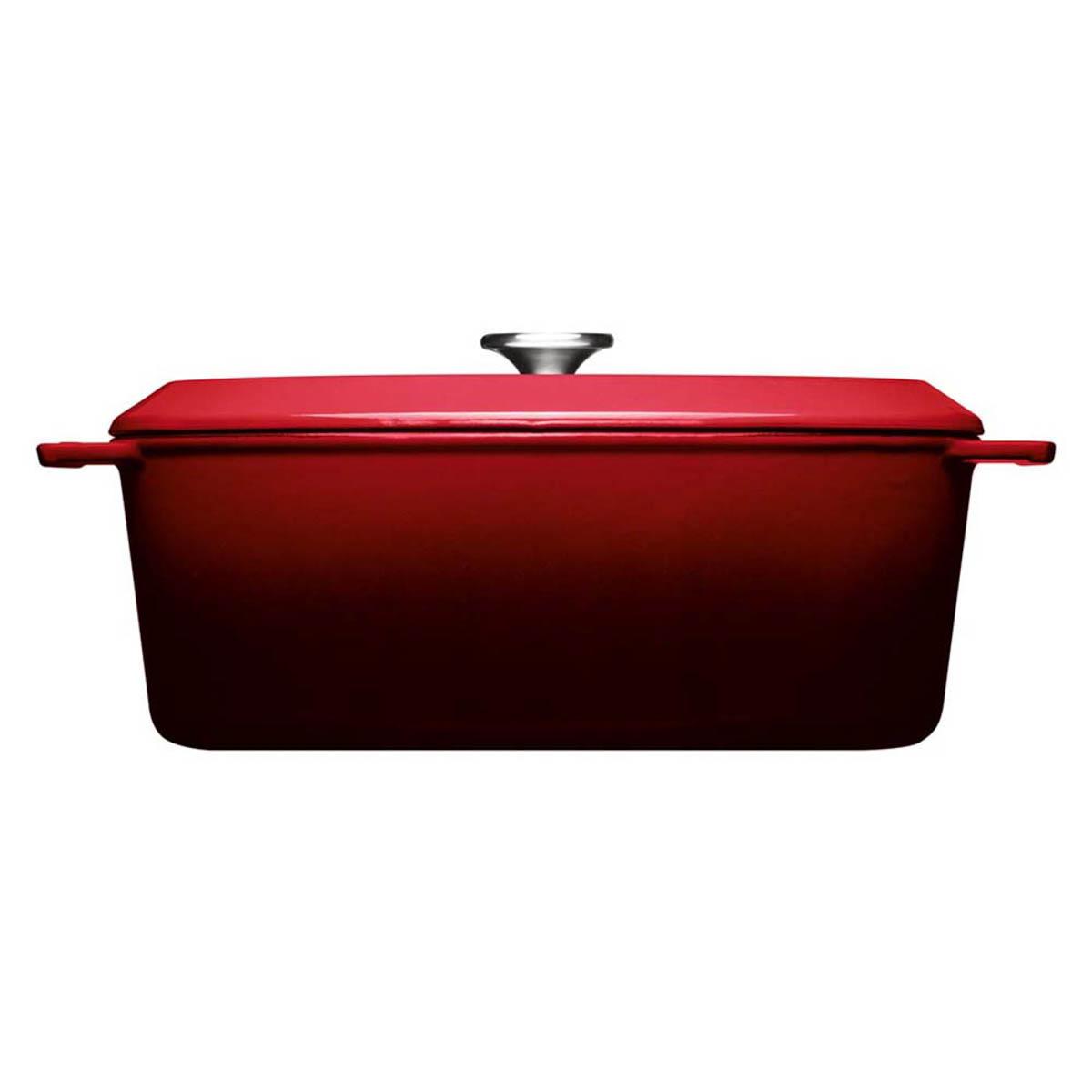Woll Iron Bräter mit Deckel 34 x 26 cm cm Rot