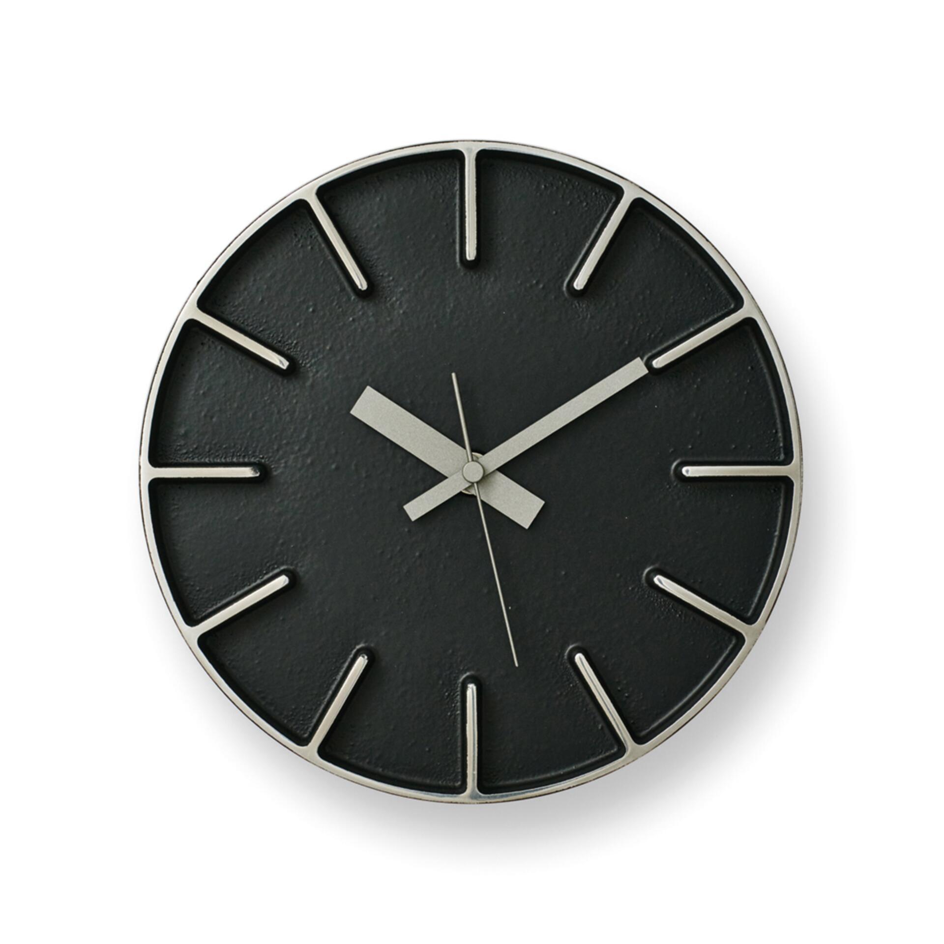Lemnos Edge Clock Designuhr Klein Schwarz