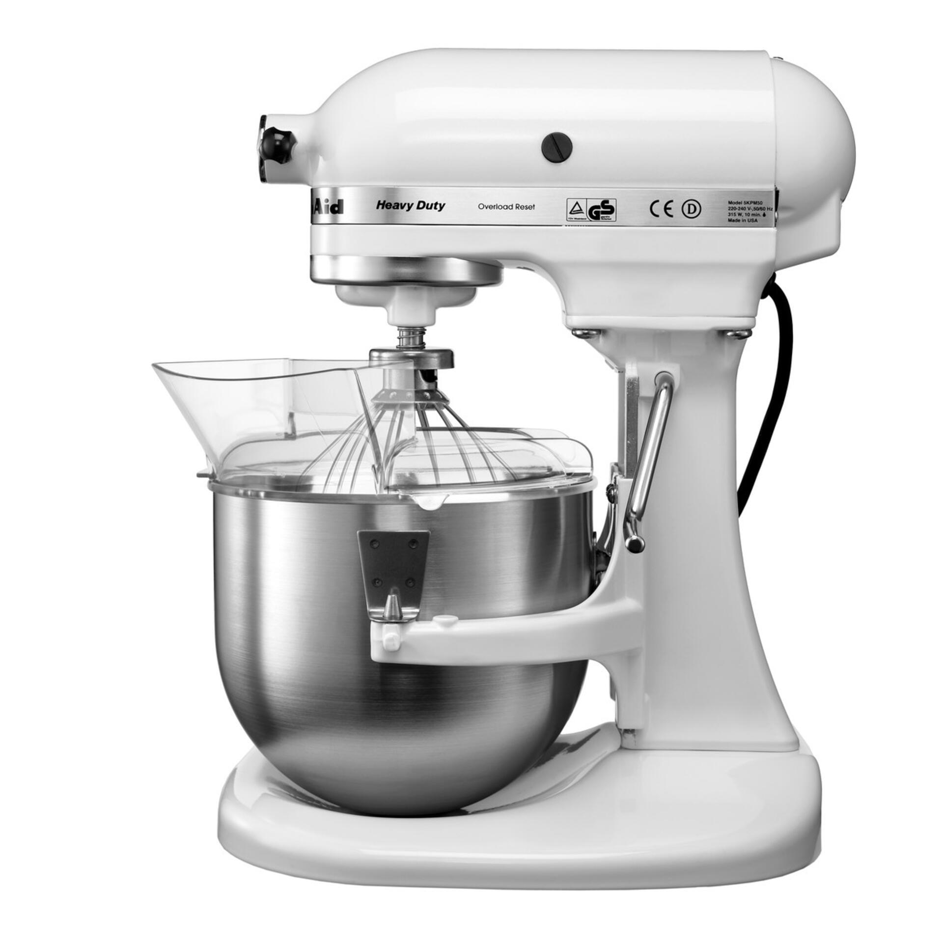 KitchenAid Heavy Duty Küchenmaschine Weiß 5KPM5EWH 4,8 L