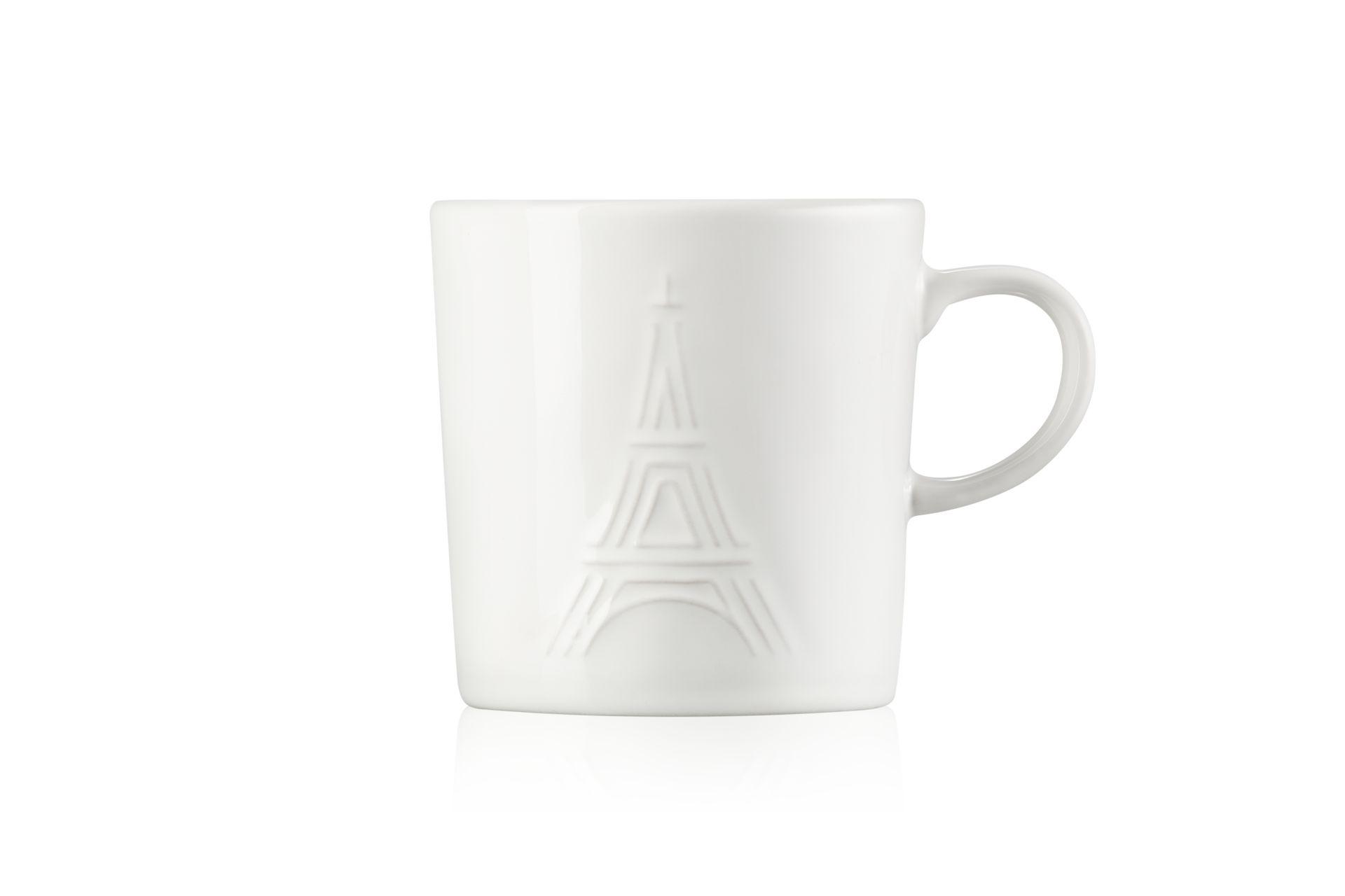 Le Creuset Eiffelturm Becher 350 ml Weiss